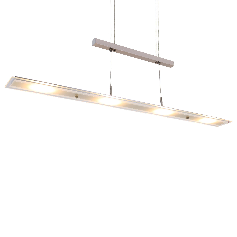 LED Pendelleuchte, 85 cm, 20 W, Matt-Nickel