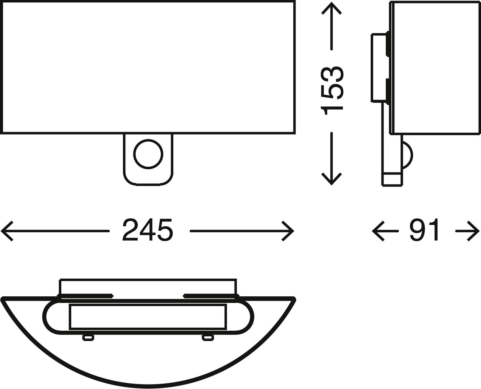TELEFUNKEN Sensor LED Aussenleuchte, 24,5 cm, 8,5 W, Weiss