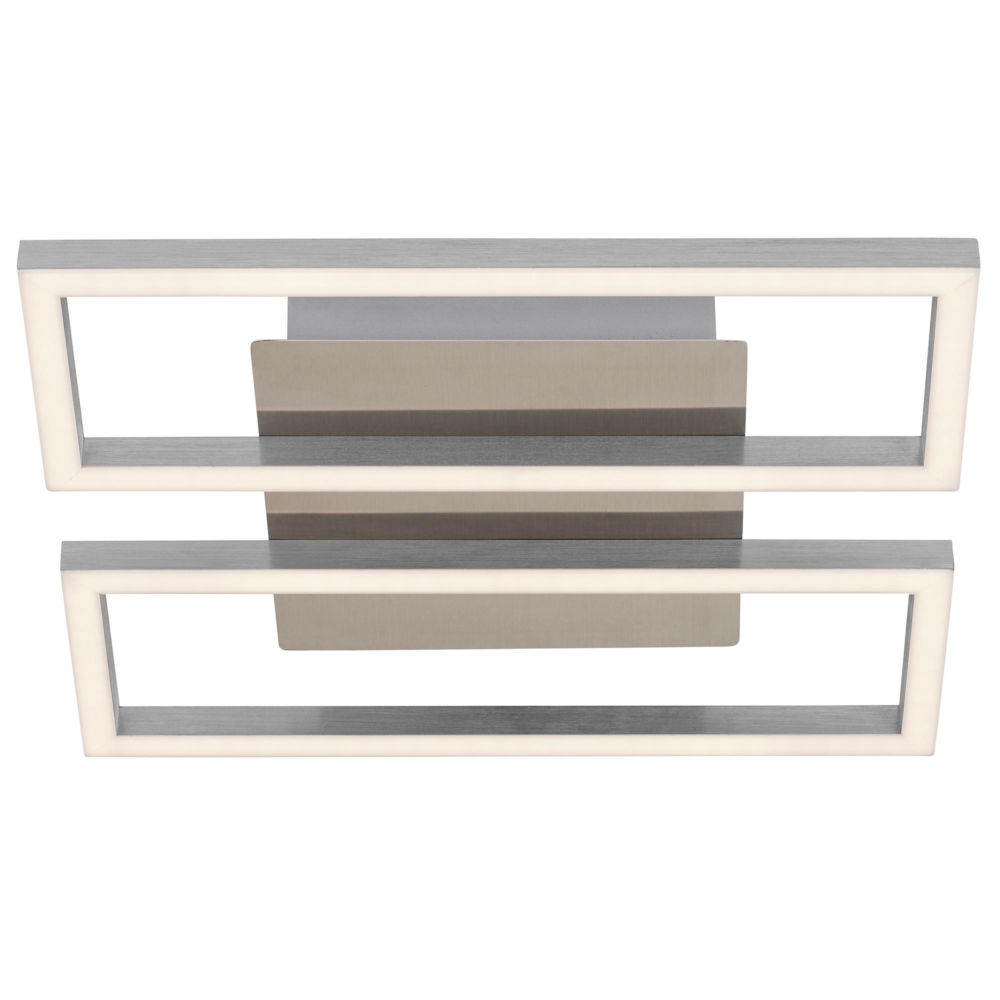 LED Wand- und Deckenleuchte, 28 cm, 14,5 W, Matt-Nickel