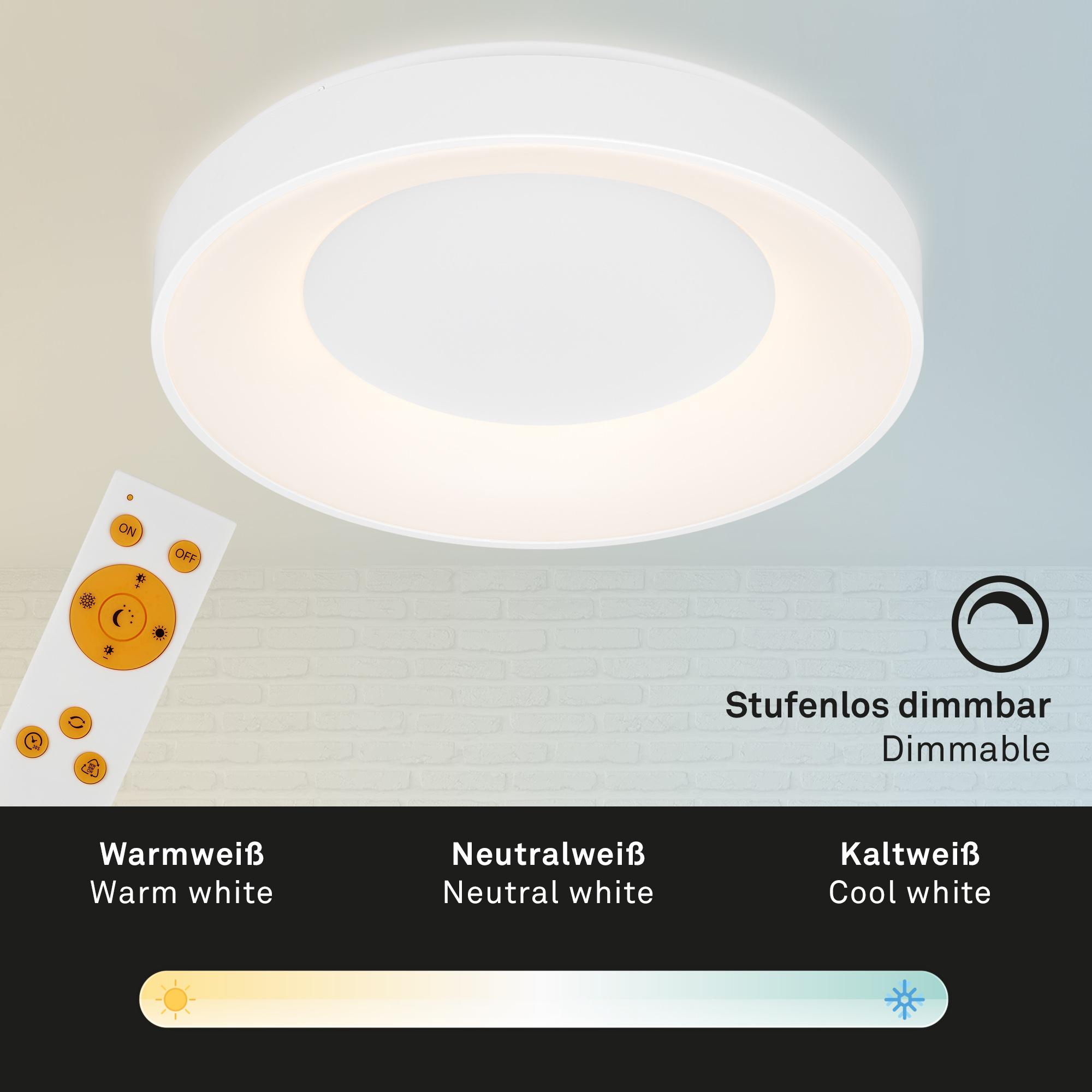 CCT LED Deckenleuchte Weiß
