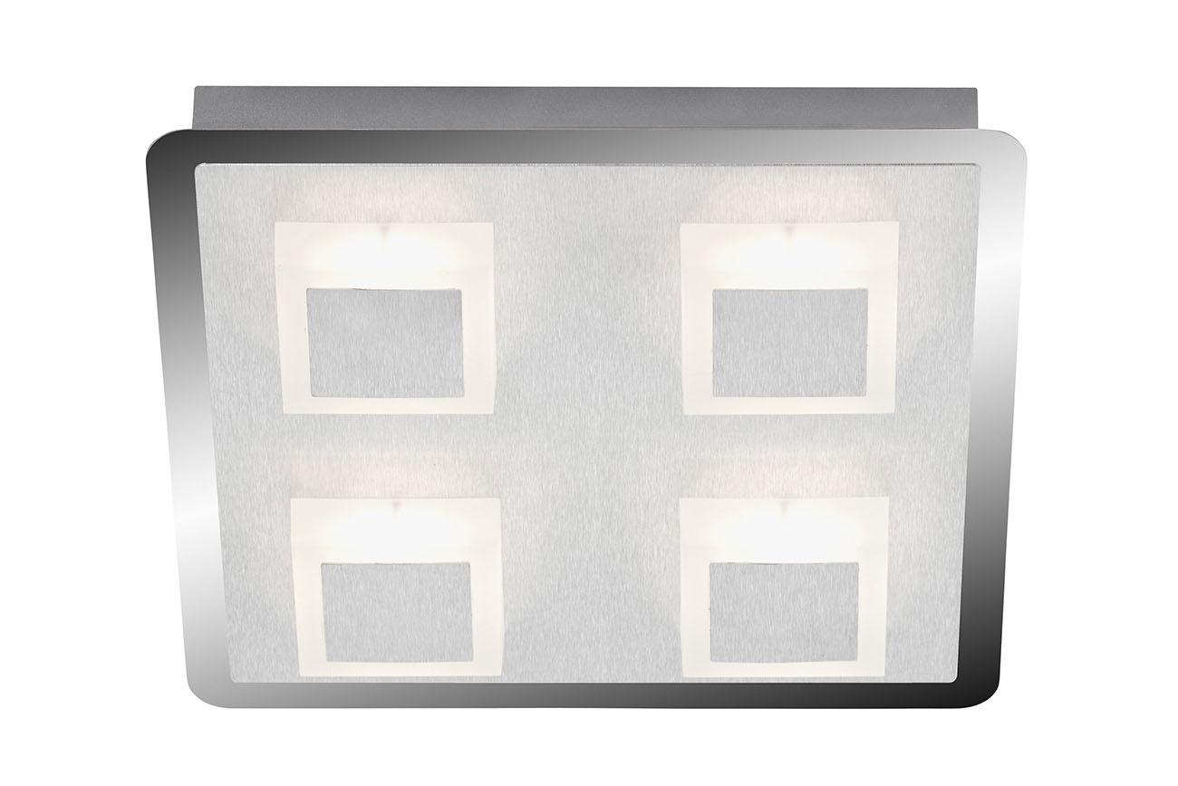 LED Deckenleuchte, 28 cm, 20 W, Alu-Chrom
