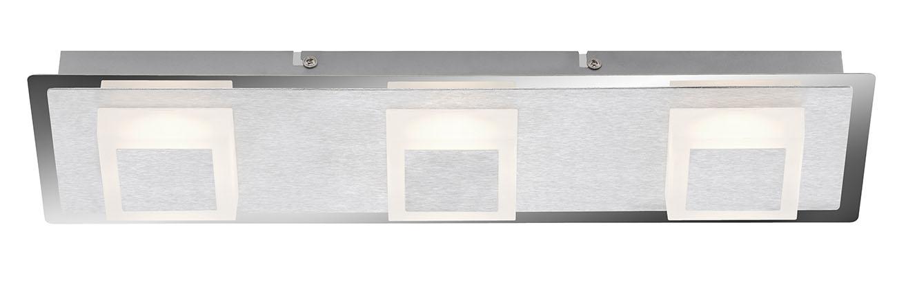 LED Deckenleuchte, 44 cm, 15 W, Alu-Chrom