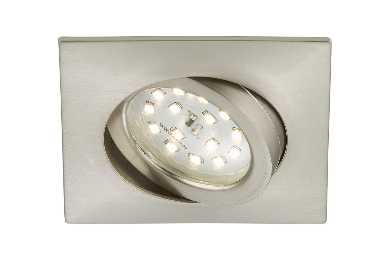 LED Einbauleuchte, 8,2 cm, 5 W, Matt-Nickel