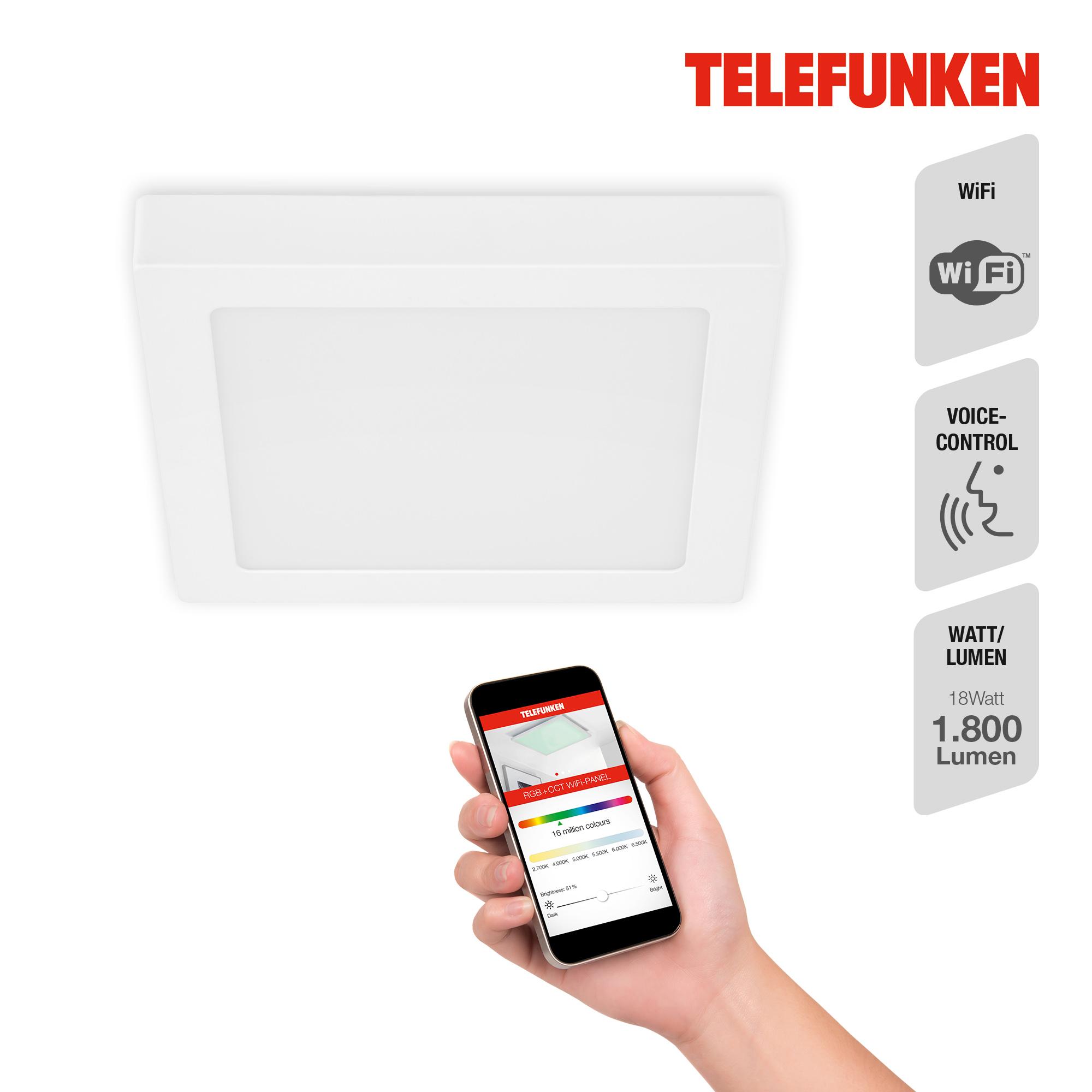 TELEFUNKEN Smart LED Aufbauleuchte Weiß
