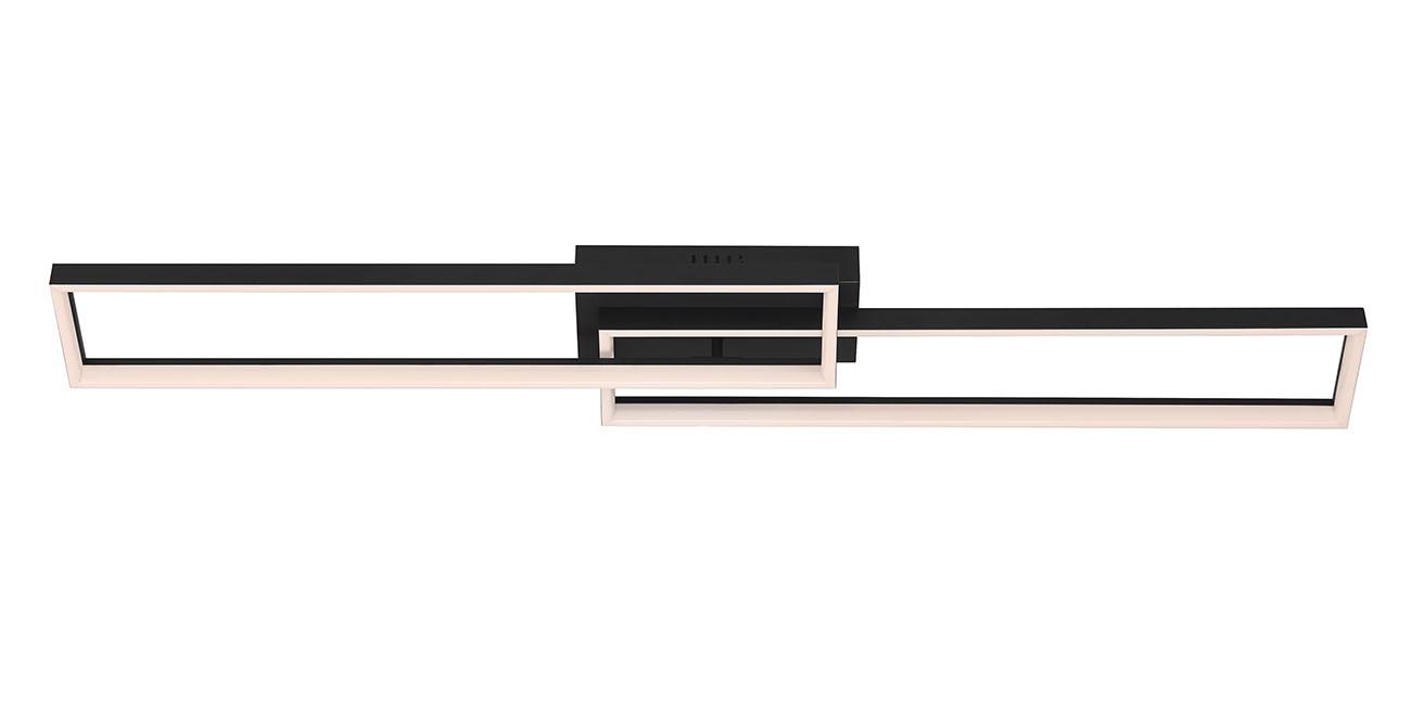 CCT LED Deckenleuchte, 110 cm, 40 W, Schwarz