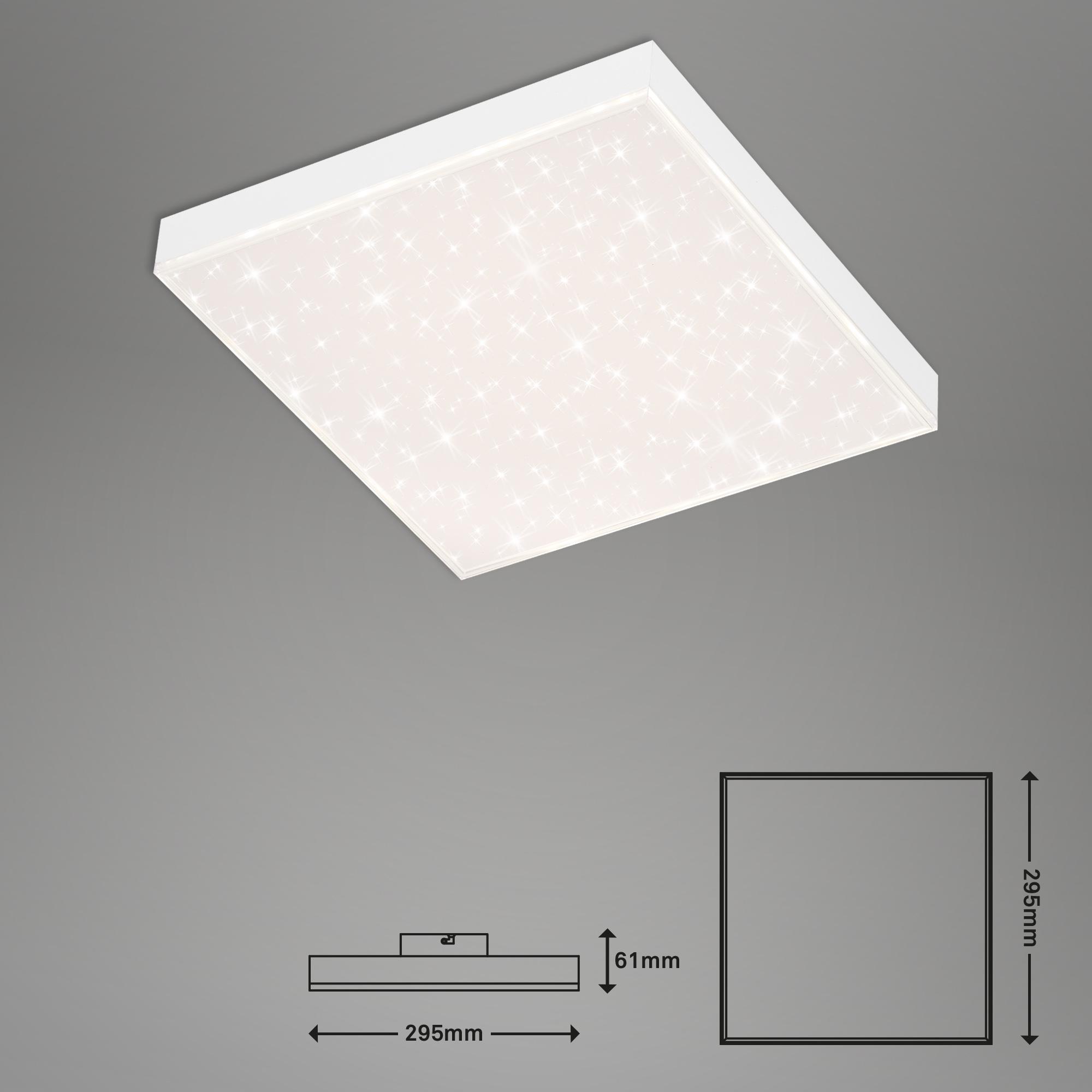 CCT LED Panel, 29,5 cm, 15 W, Weiß