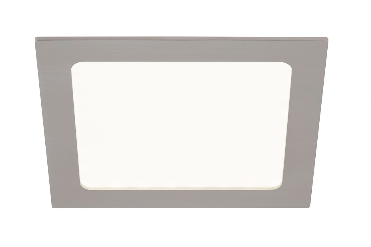 LED Einbaustrahler, 17 cm, 12 W, Matt-Nickel