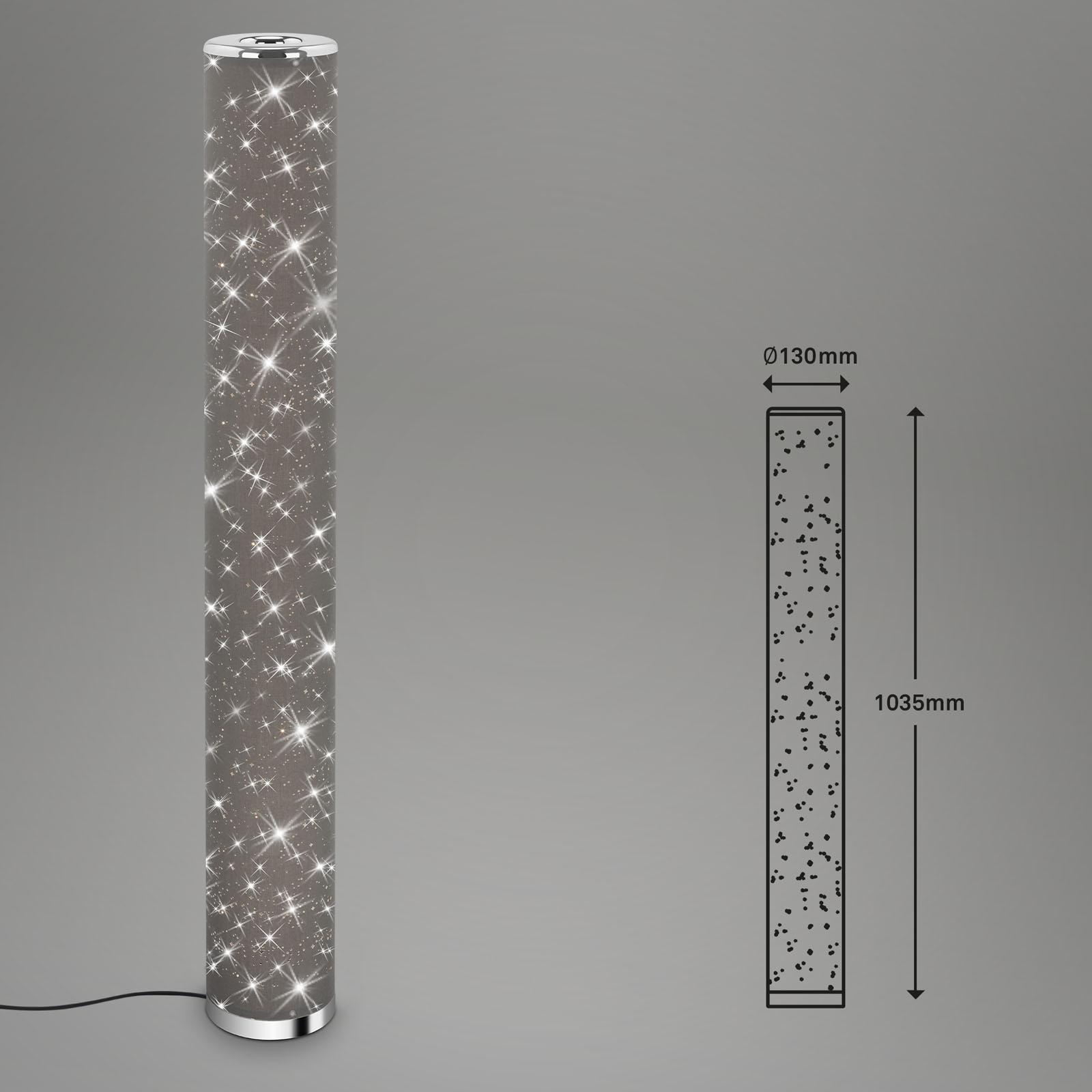 Sternenhimmel LED-Stehleuchte Grau-Chrom Maßzeichnung