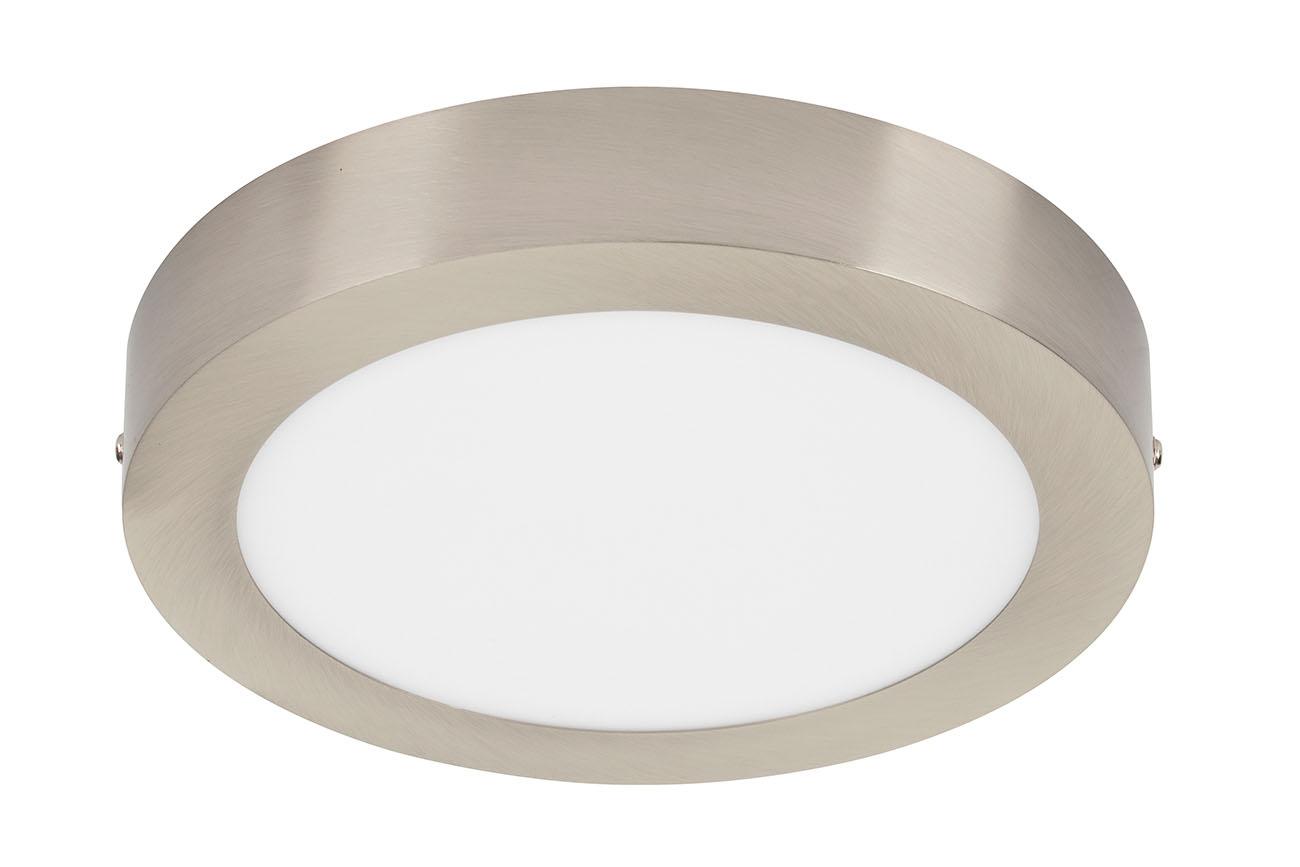 TELEFUNKEN Smart LED Aufbauleuchte, Ø 22,5 cm, 18 W, Matt-Nickel