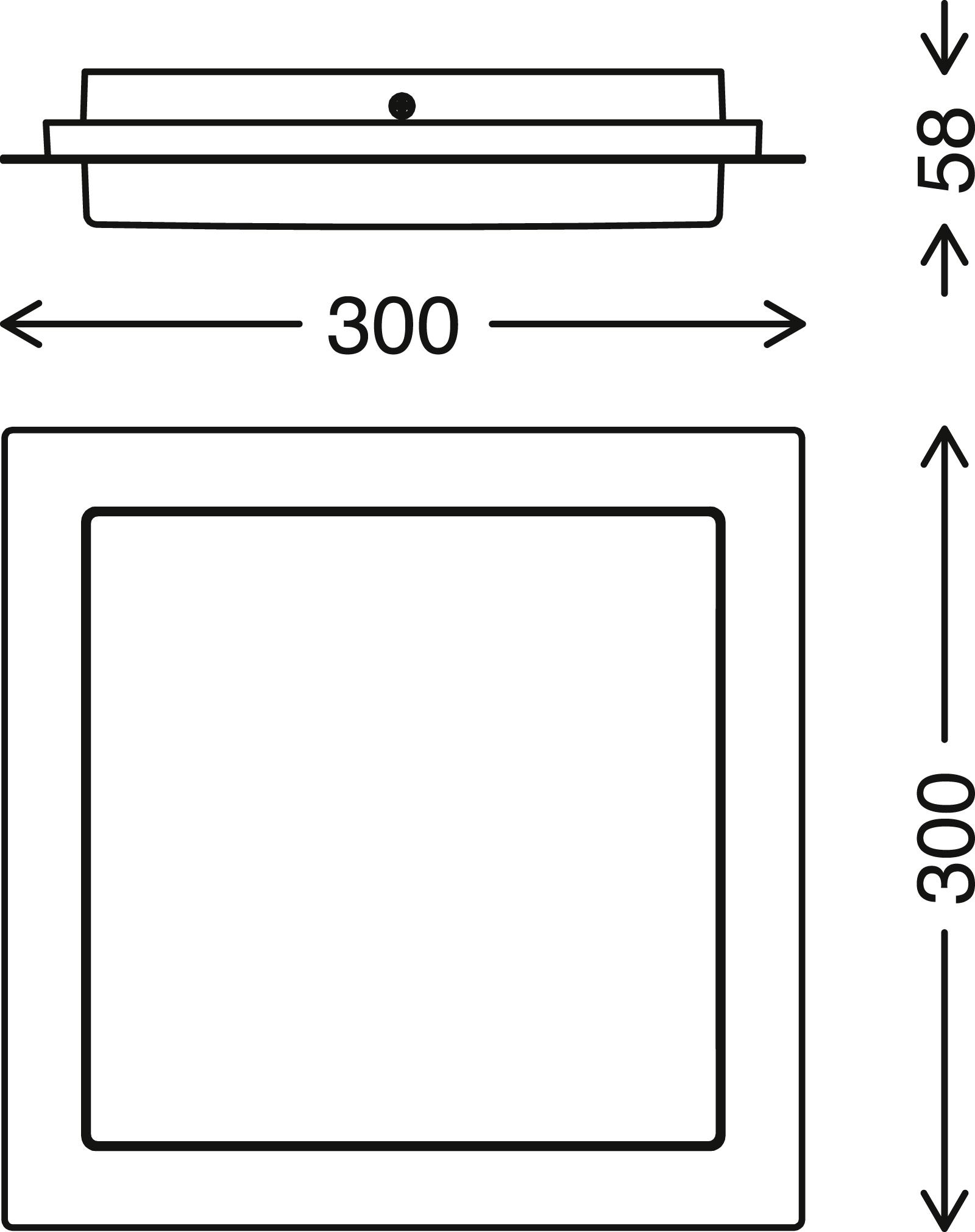 TELEFUNKEN LED Aussenwandleuchte, 30 cm, 15 W, Schwarz