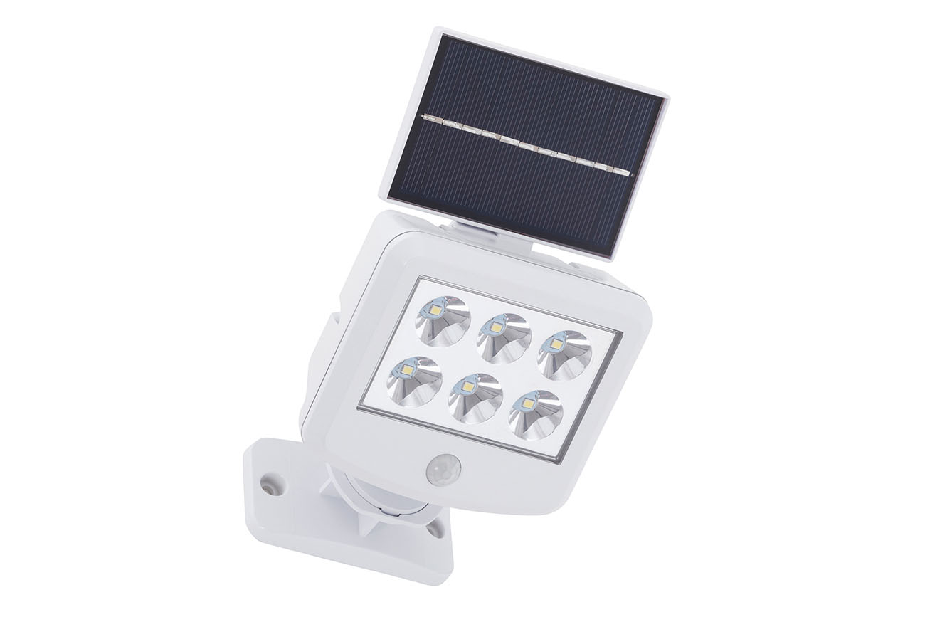LED Solar Aussenleuchte, 12,8 cm, 3 W, Weiss