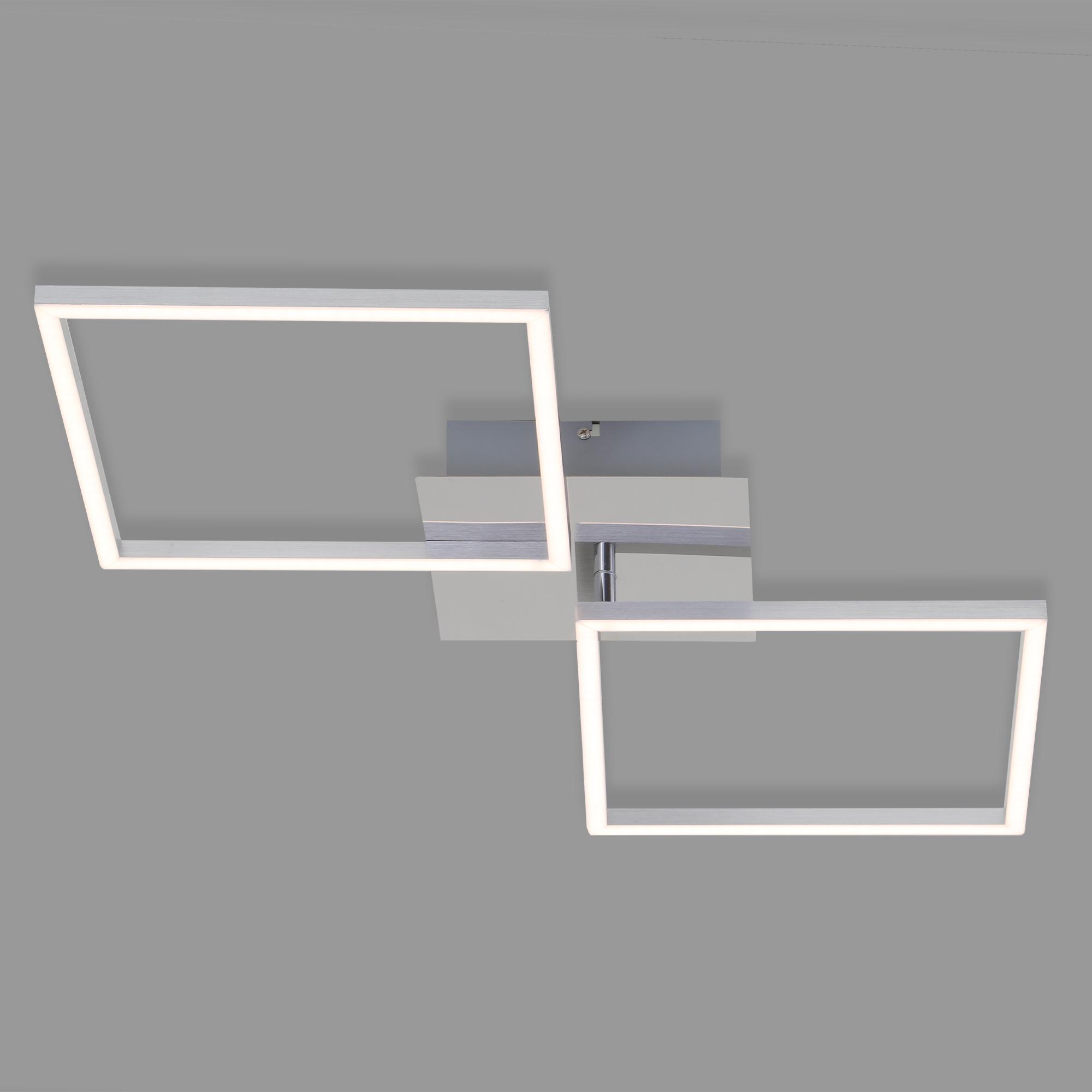 LED Deckenleuchte, 76,3 cm, 2600 LM, 36 W, Alu-Chrom