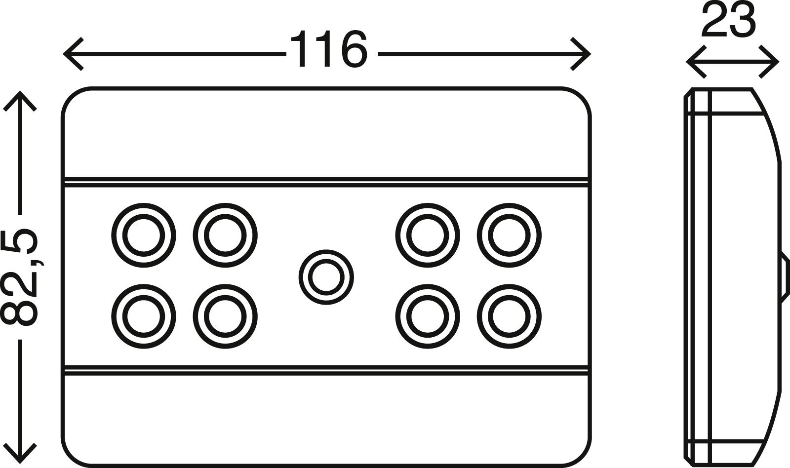 LED Unterbauleuchte, 11,6 cm, 0,64 W, Silber