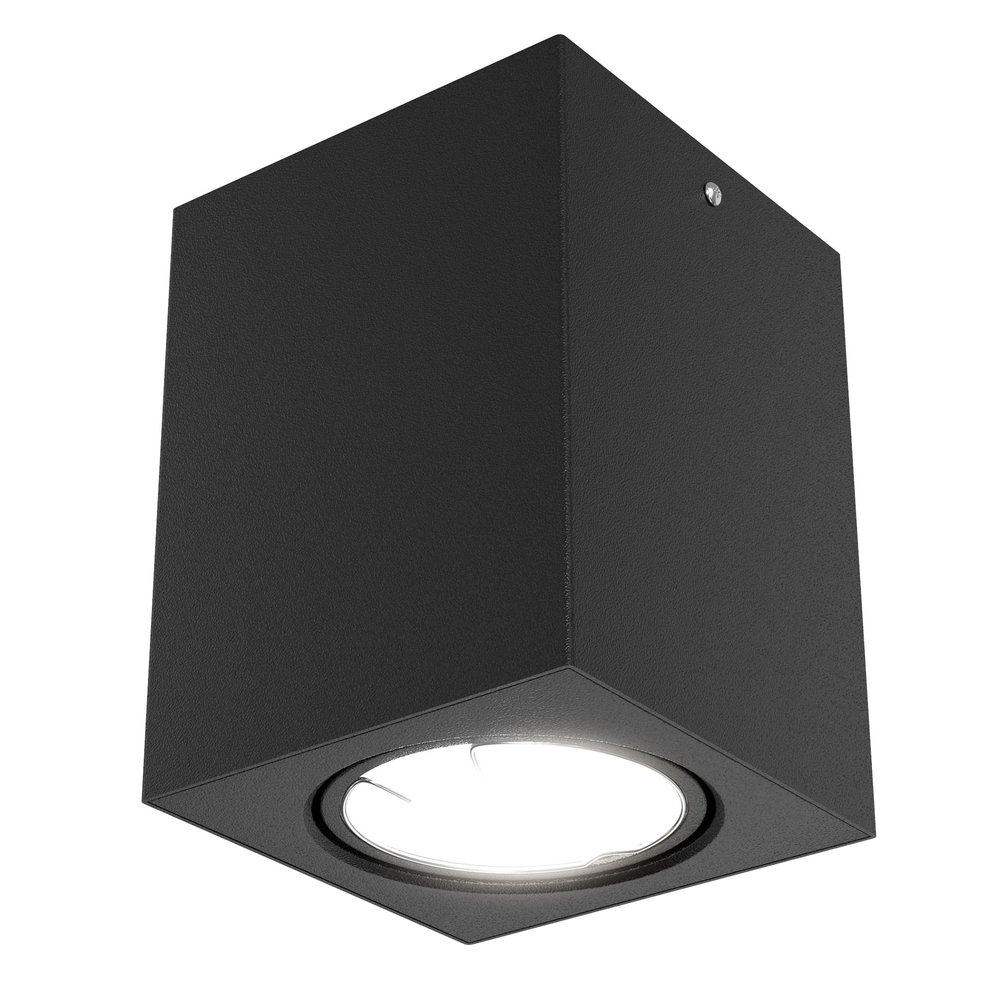 LED Aufbauleuchte Schwarz