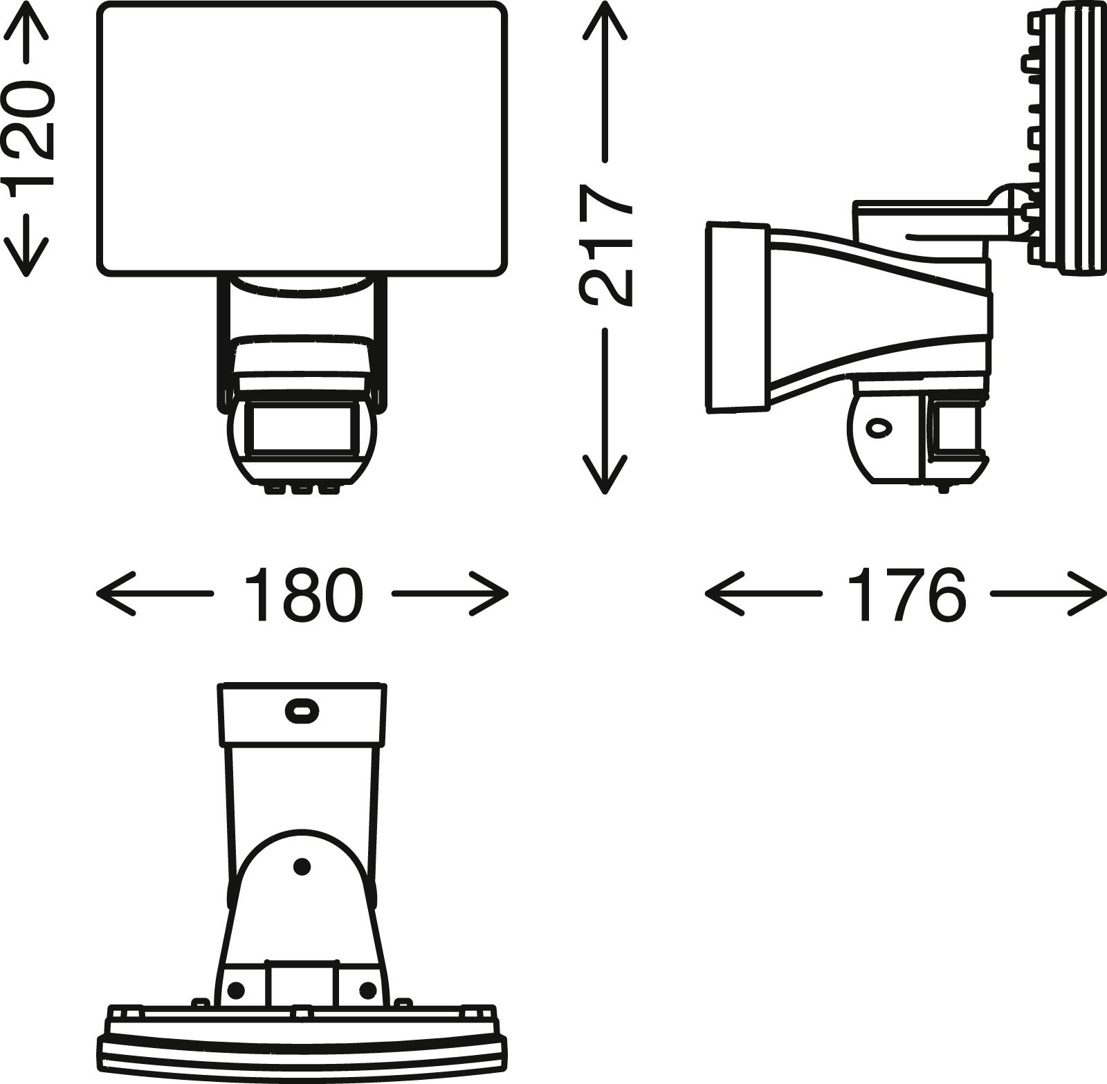 TELEFUNKEN LED Sensor Aussenstrahler, 21,7 cm, 20 W, Weiss