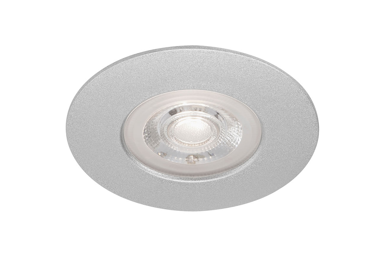LED Einbauleuchte, Ø 9 cm, 5 W, Chrom-Matt