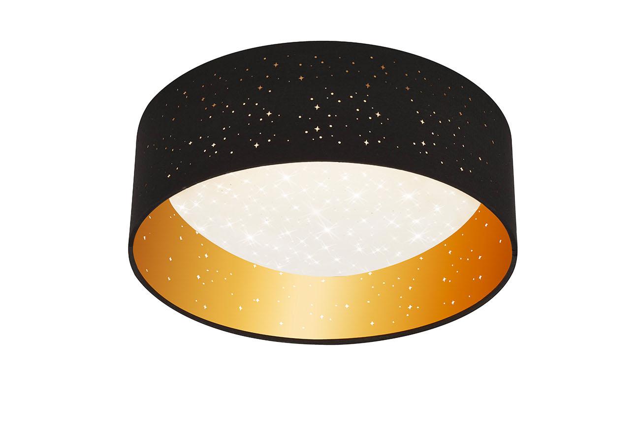 STERNENHIMMEL LED Deckenleuchte, Ø 32,5 cm, 12 W, Schwarz-Gold