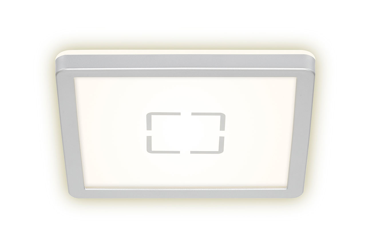 Slim LED Panel, 19 cm, 1400 LUMEN, 12 WATT, Silber