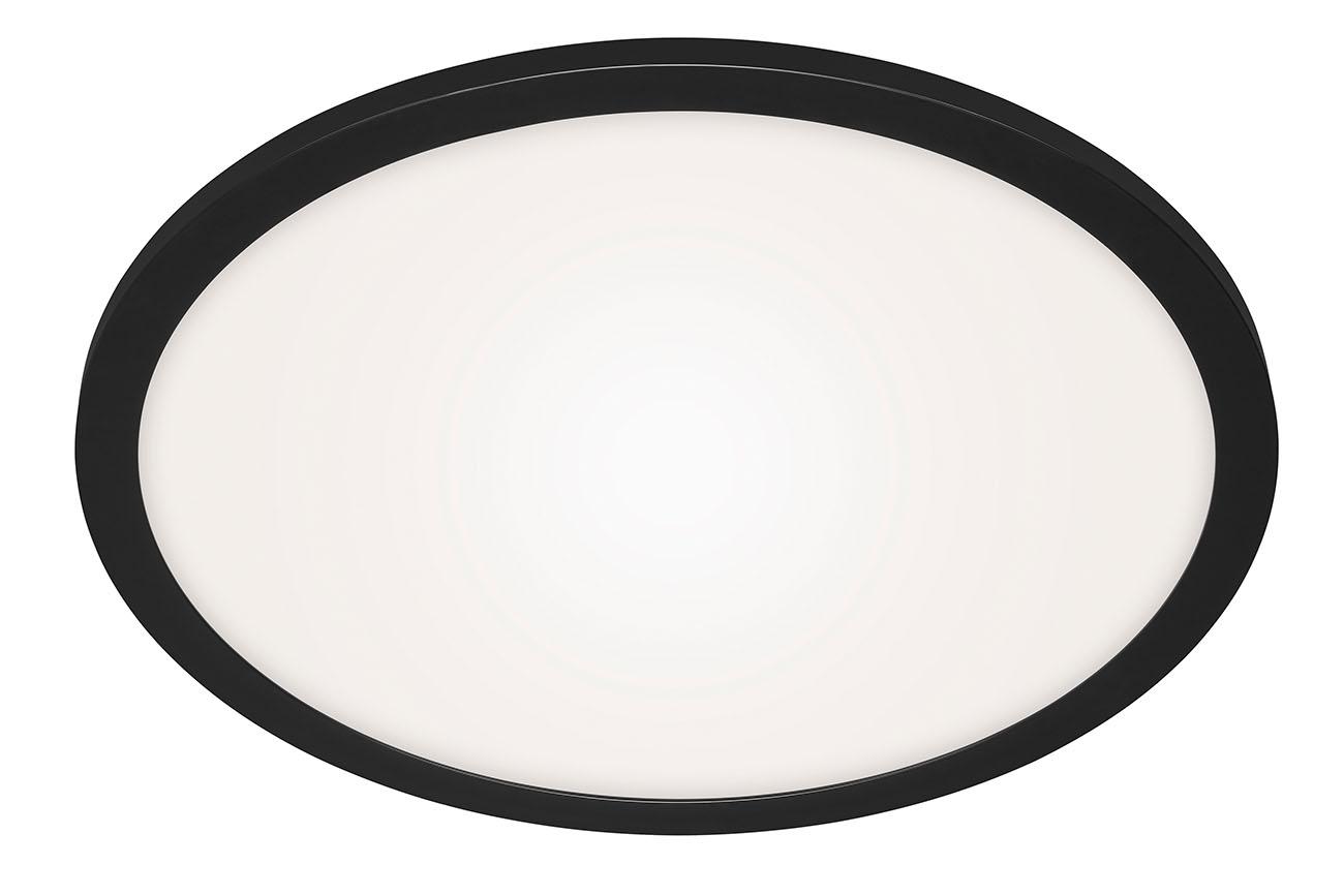 CCT LED Panel, Ø 40 cm, 24 W, Schwarz