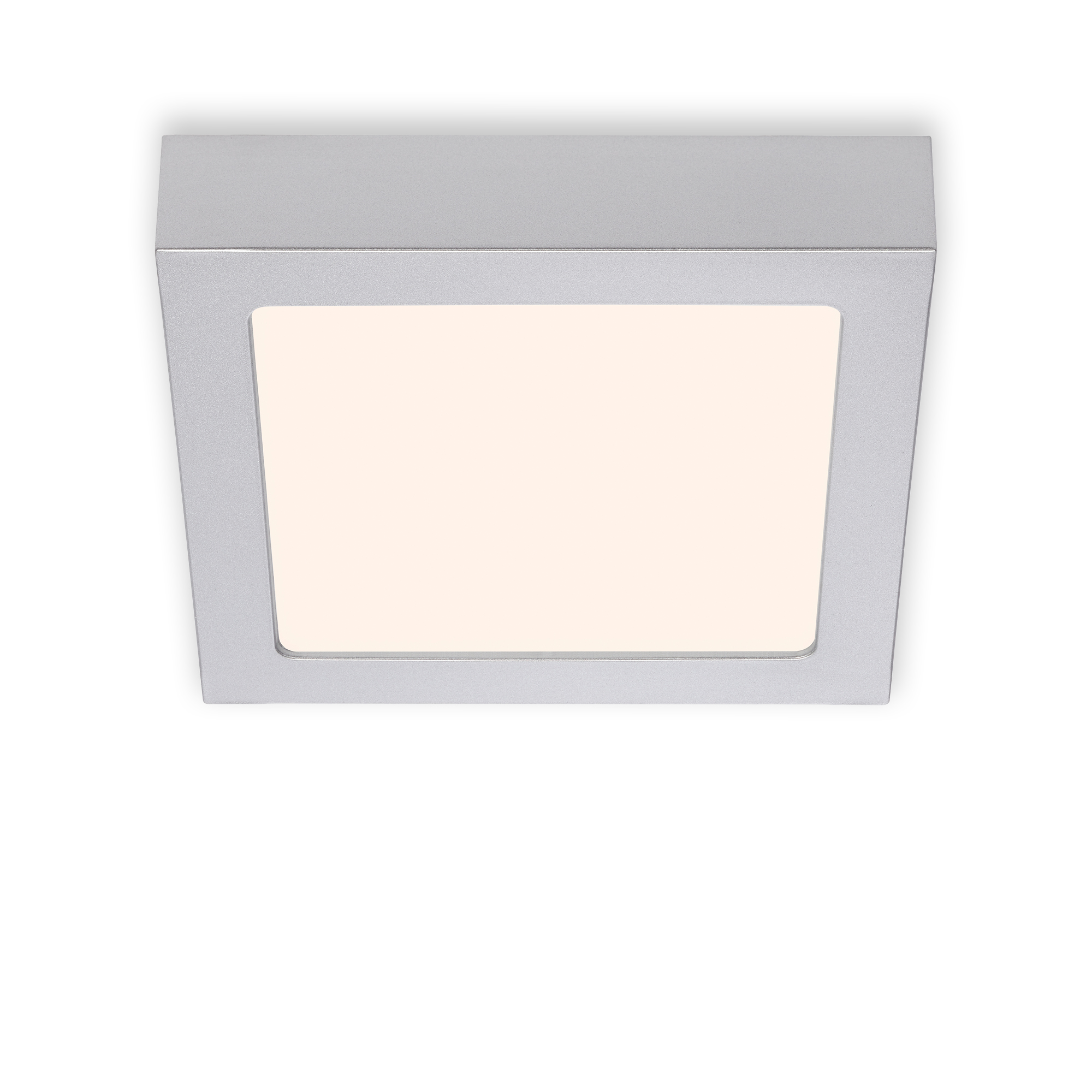 LED Deckenleuchte, 17 cm, 12 W, Chrom-Matt