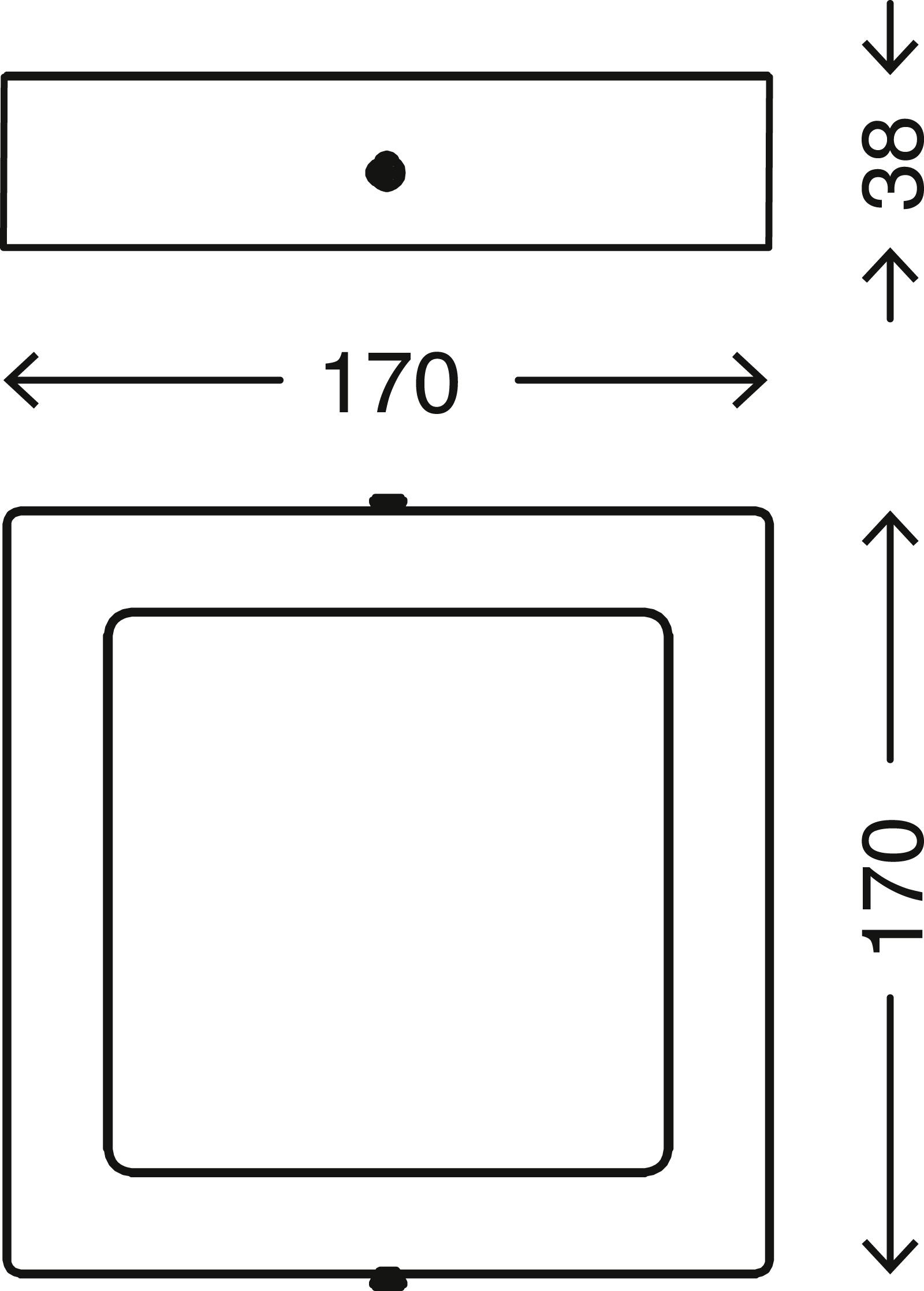 TELEFUNKEN Smart LED Aufbauleuchte, 17 cm, 12 W, Matt-Nickel