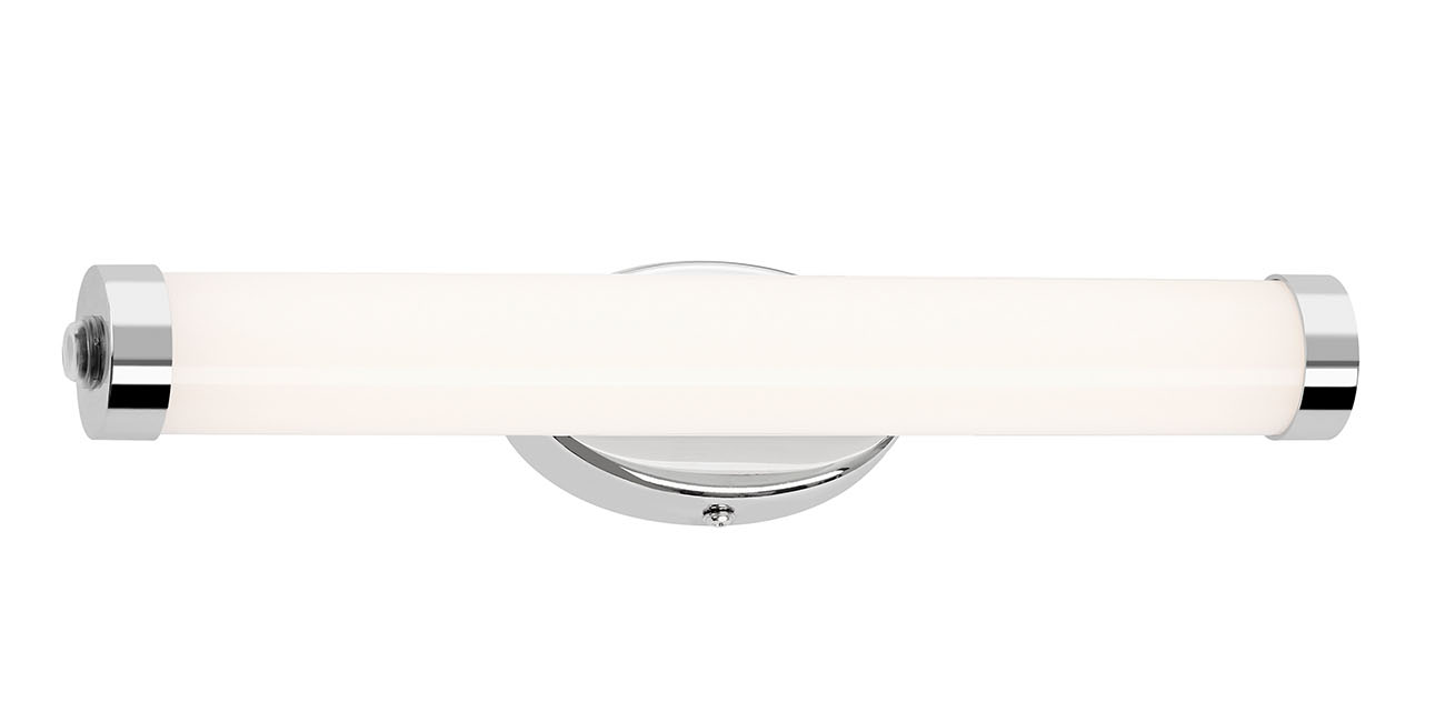 LED Spiegelleuchte, 32 cm, 8 W, 720 lm, Chrom-Weiss