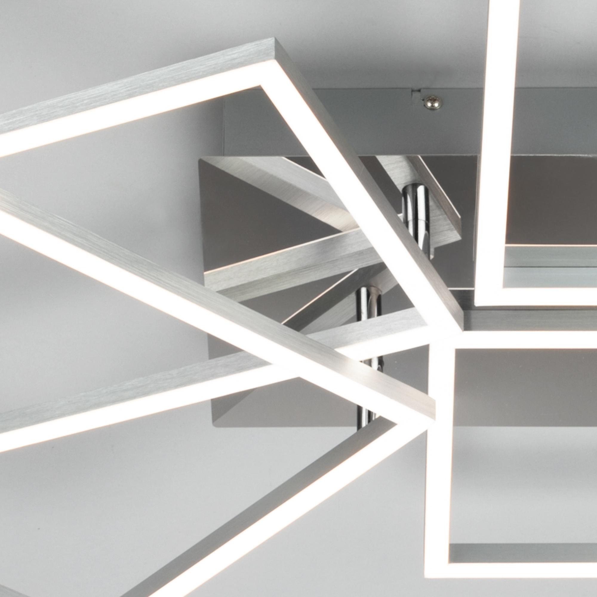 CCT LED Deckenleuchte Alu-Chrom