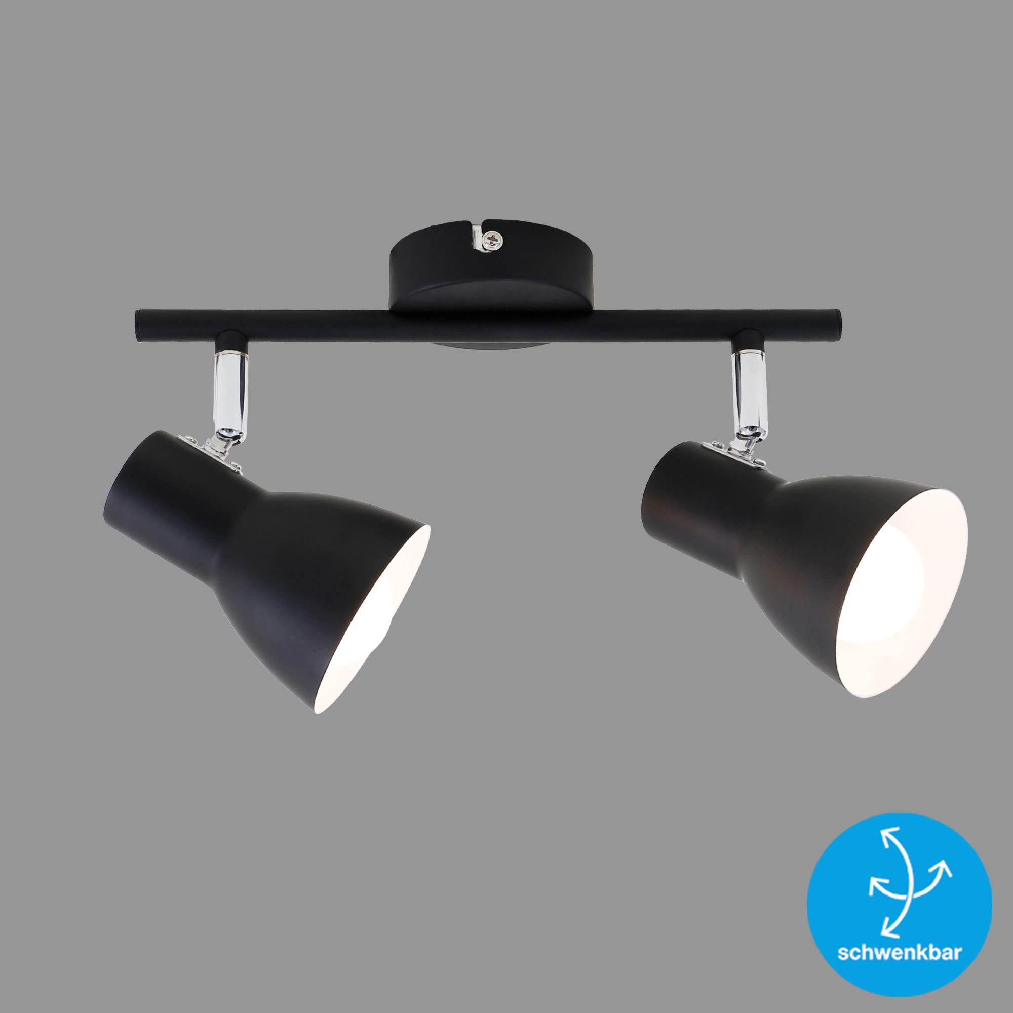 LED Spot Deckenleuchte, 27,5 cm, max. 25 W, Schwarz