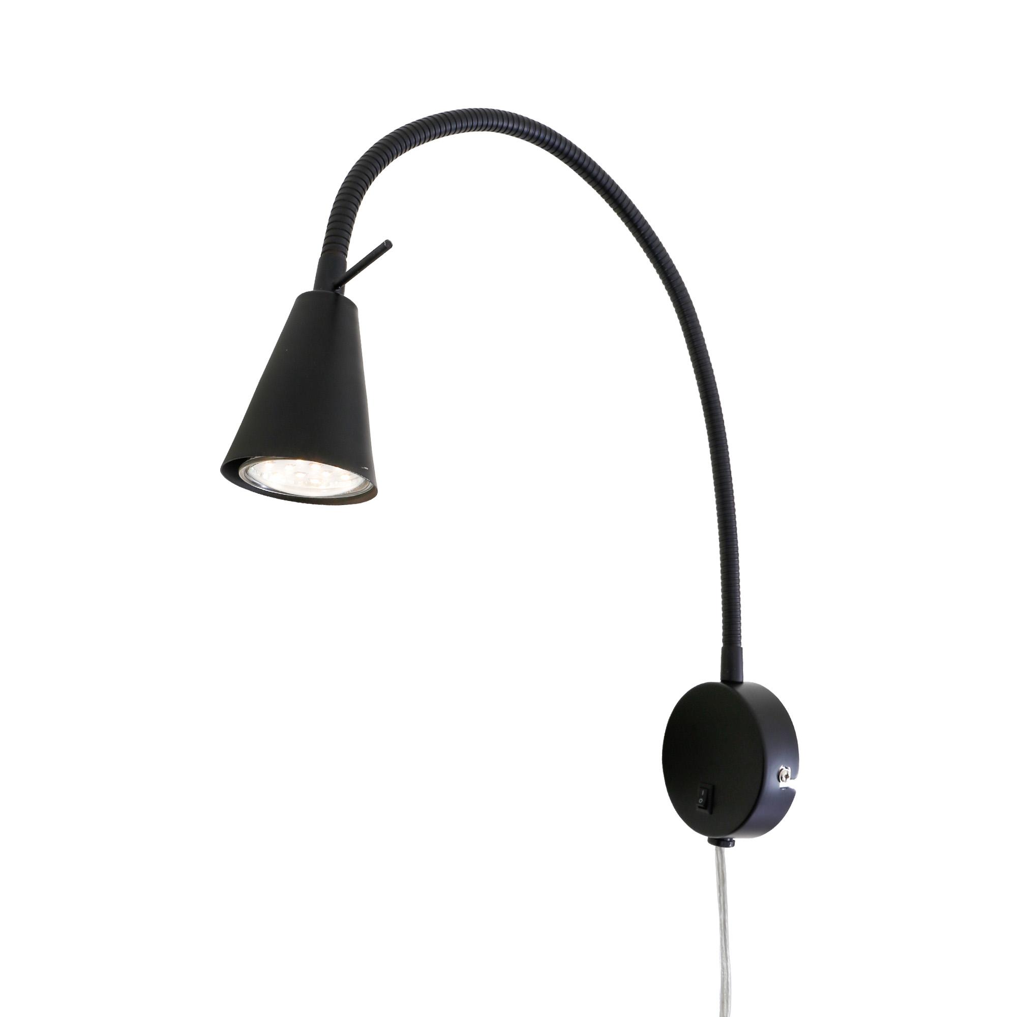 LED Wandleuchte, 45 cm, 5 W, Schwarz