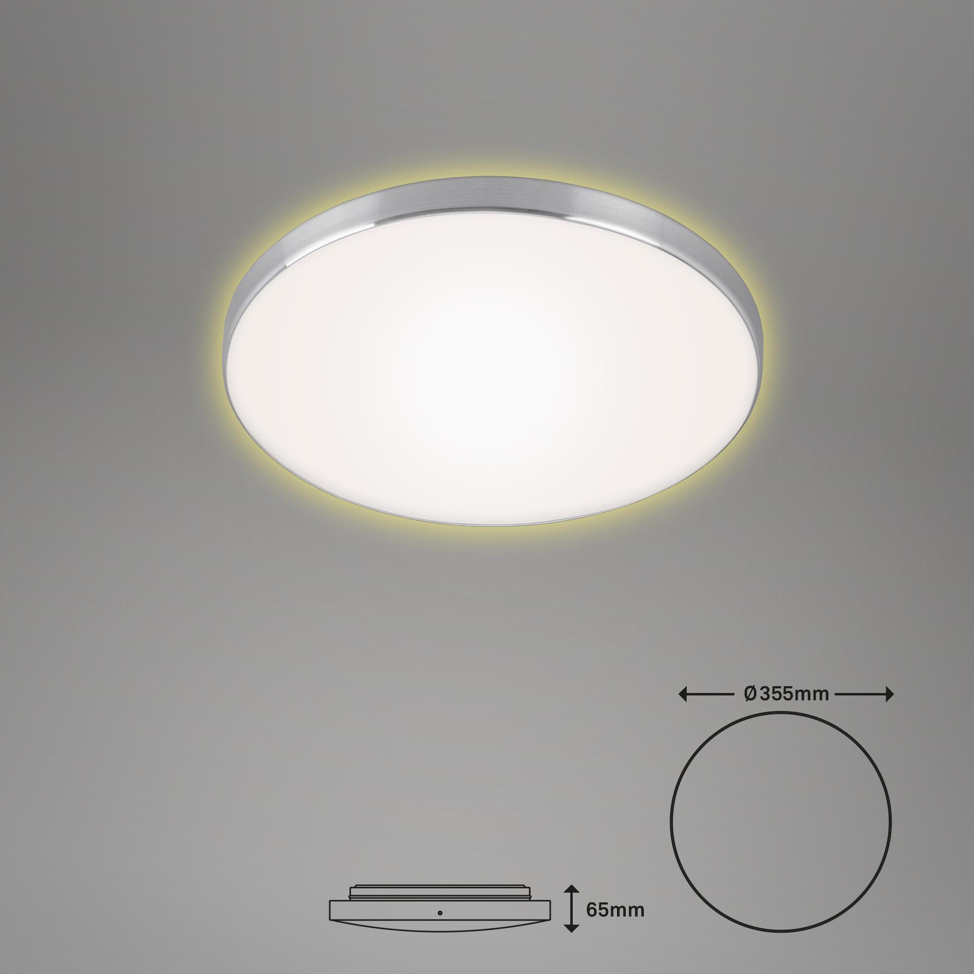 LED Deckenleuchte, Ø 35,5 cm, 18 W, Alu-Weiß