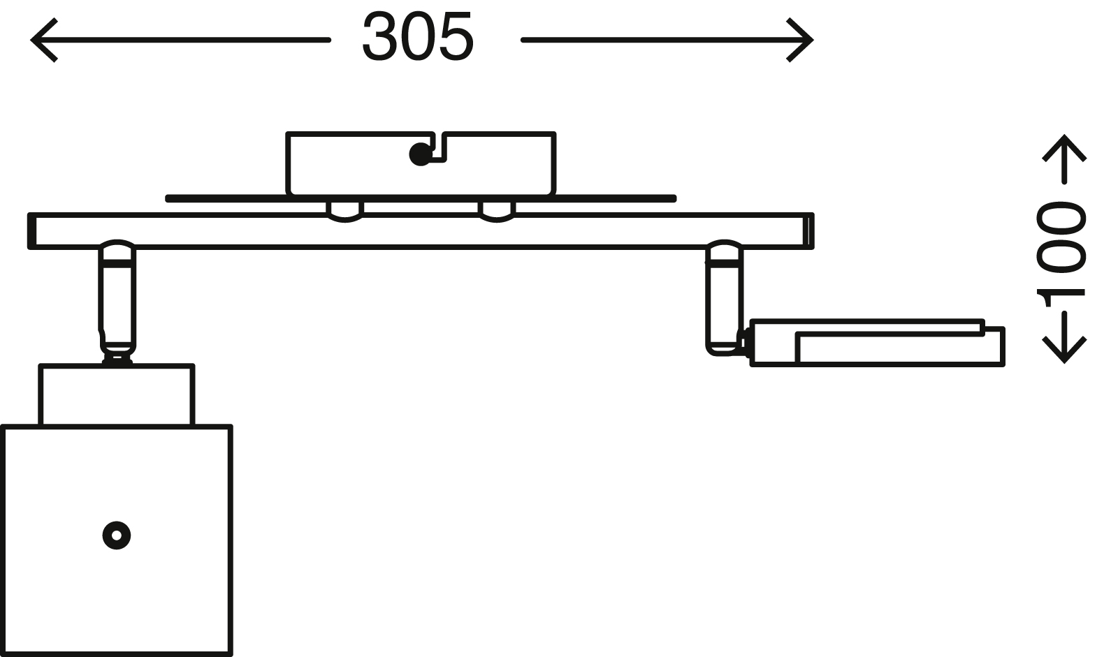 LED Spot Deckenleuchte, 30,5 cm, 9 W, Gold