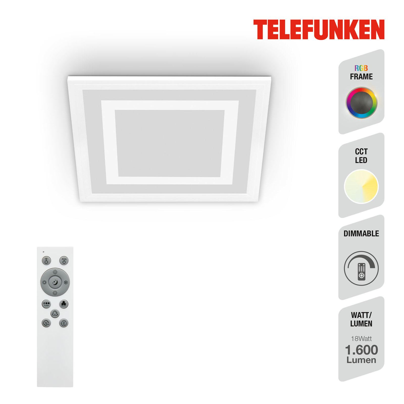 TELEFUNKEN CCT LED Panel, 29,5 cm, 18 W, Weiß