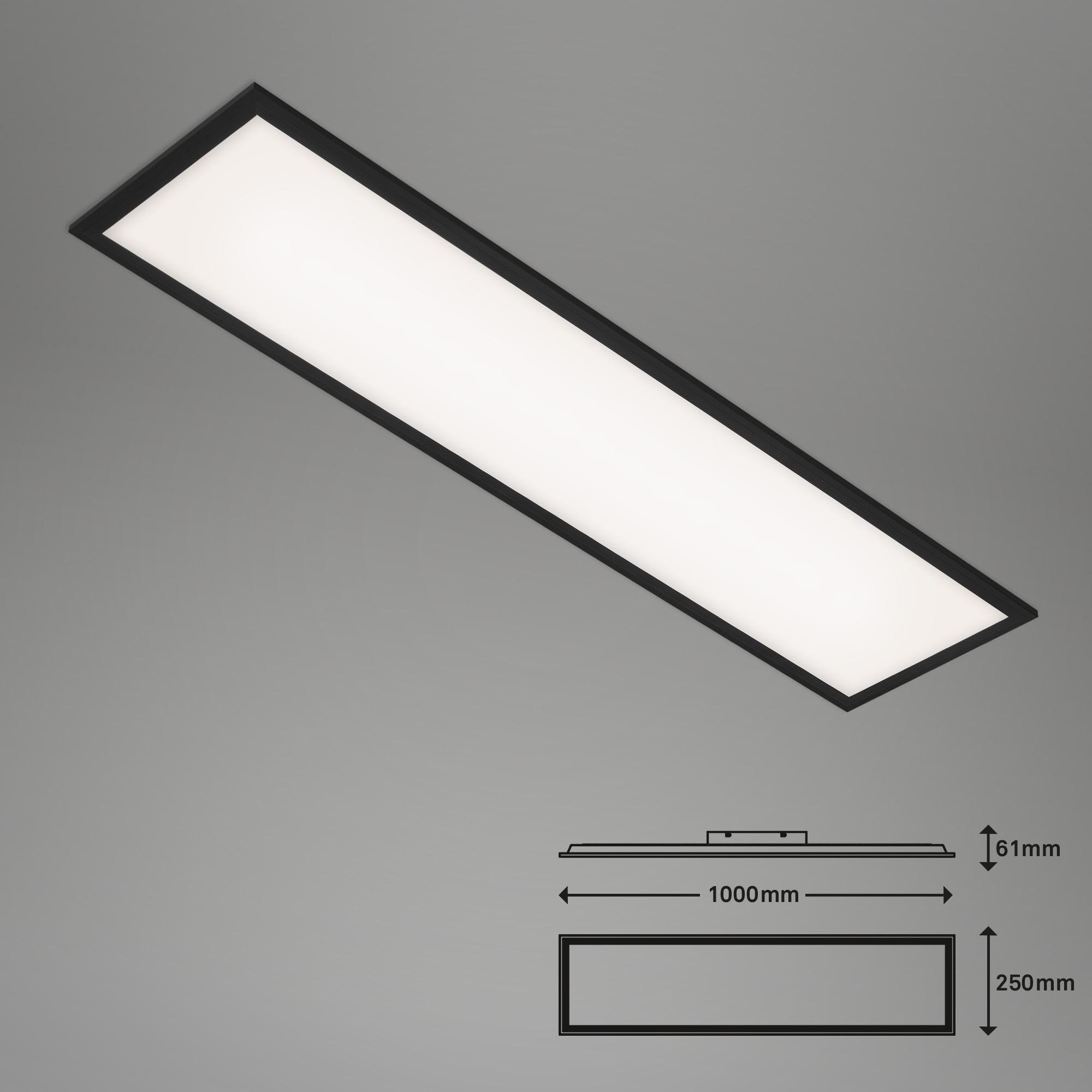 SLIM LED Panel, 100 cm, 22 W, Schwarz
