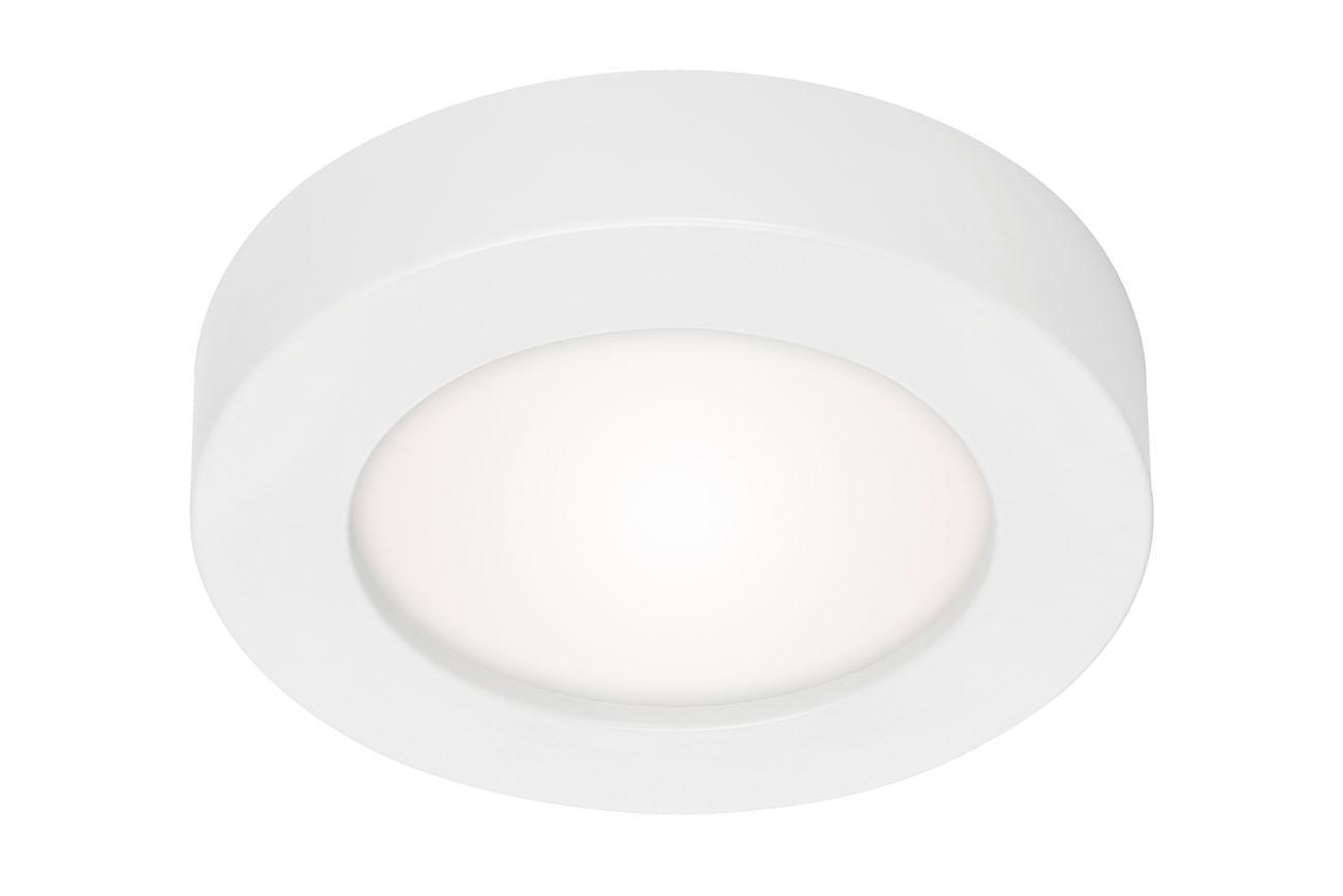 2in1 LED Auf- und Einbauleuchte, Ø 17 cm, 12 W, Weiß