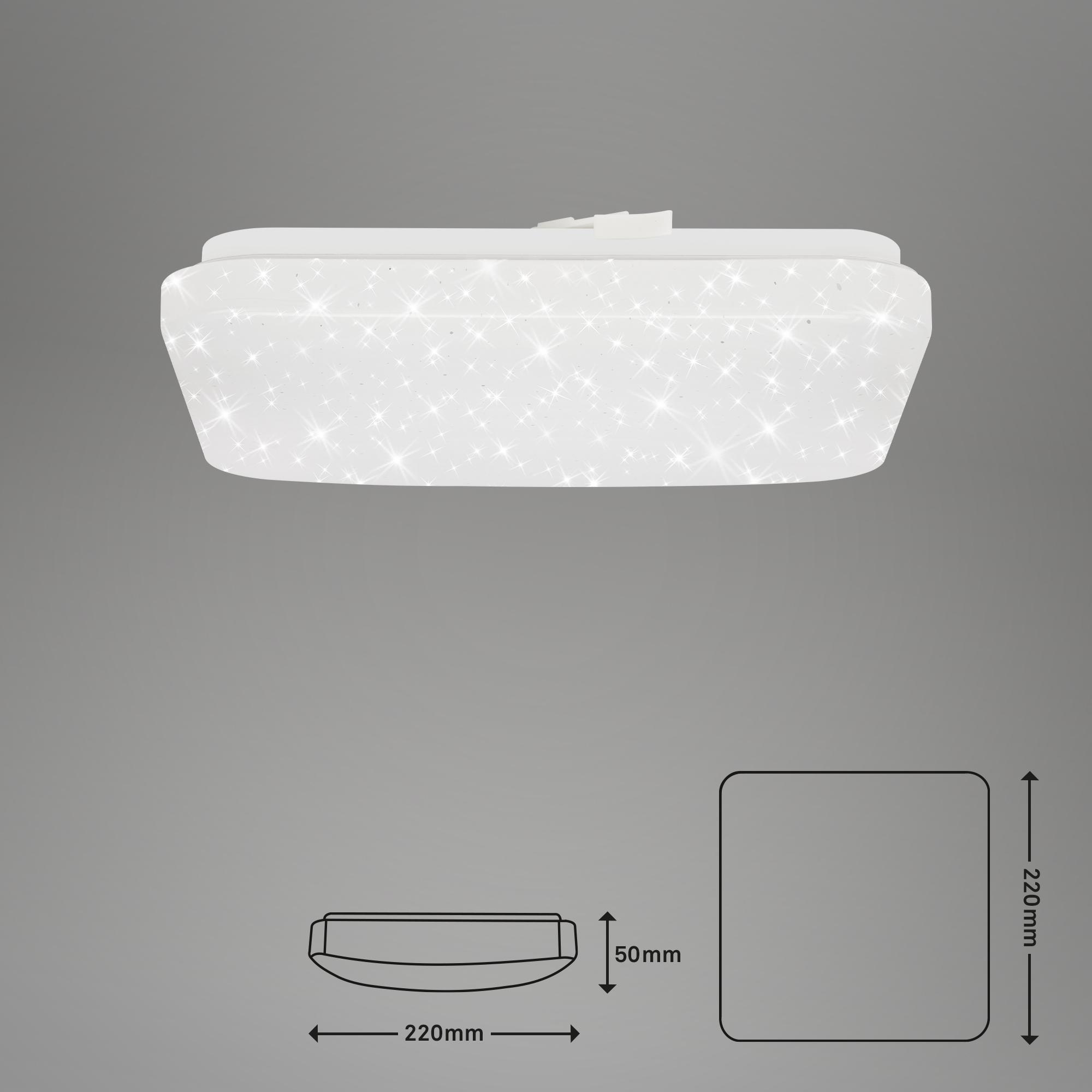 STERNENHIMMEL LED Deckenleuchte, 22 cm, 8 W, Weiß