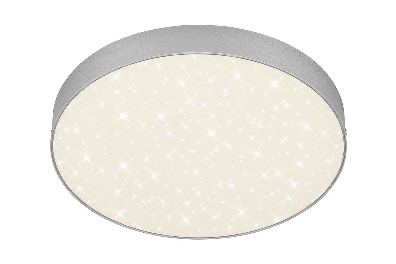 STERNENHIMMEL LED Deckenleuchte, Ø 28,7 cm, 21 W, Silber