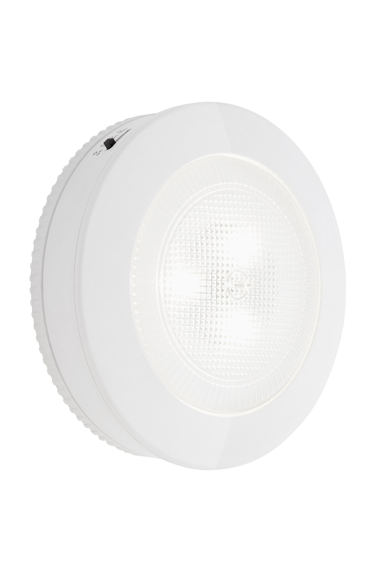 LED Push-Light, Ø 9,1 cm, 0,4 W, Weiß