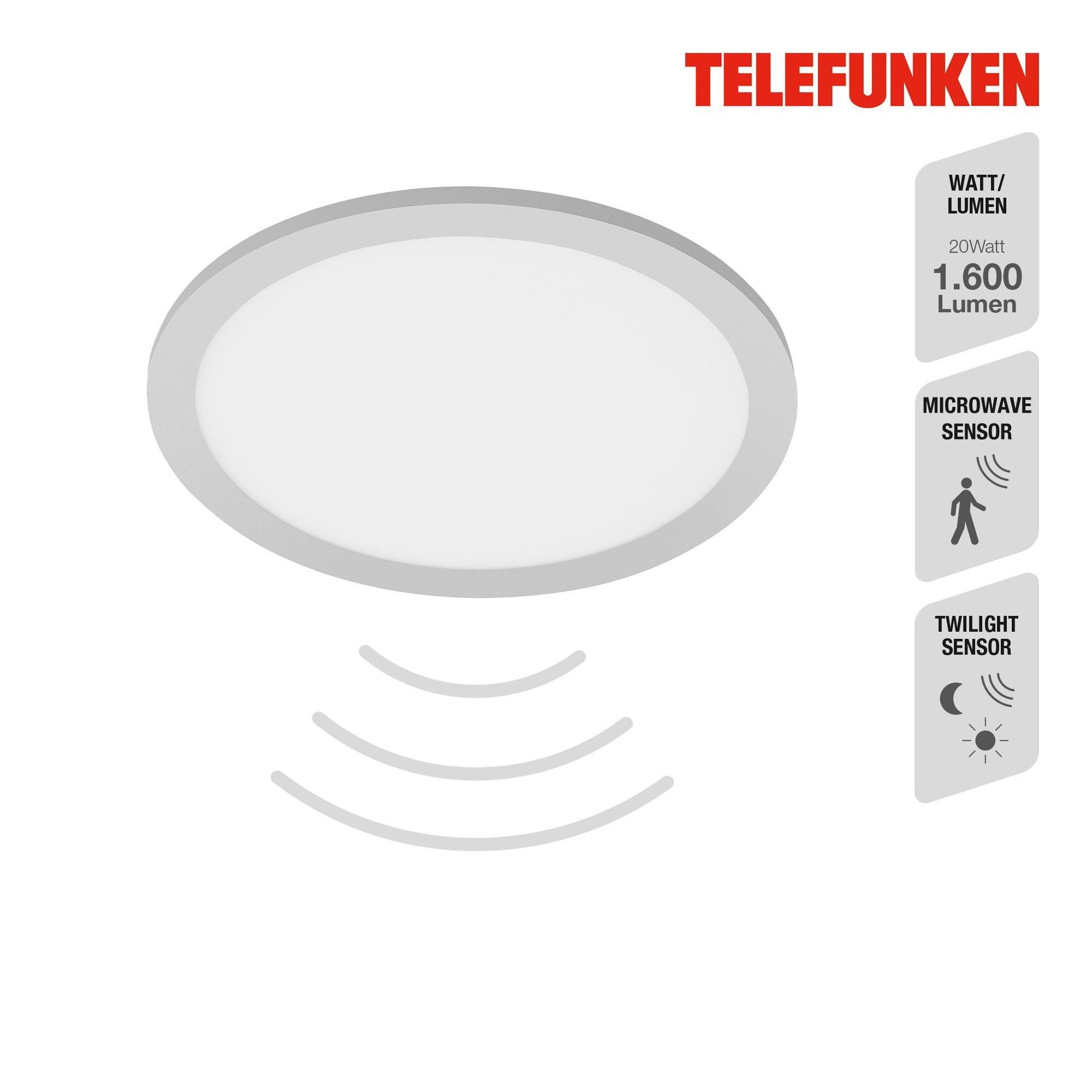 TELEFUNKEN Sensor LED Panel Chrom-Matt-Weiß
