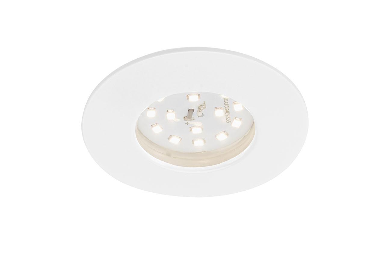 LED Einbauleuchte, Ø 7,5 cm, 6,5 W, Weiß