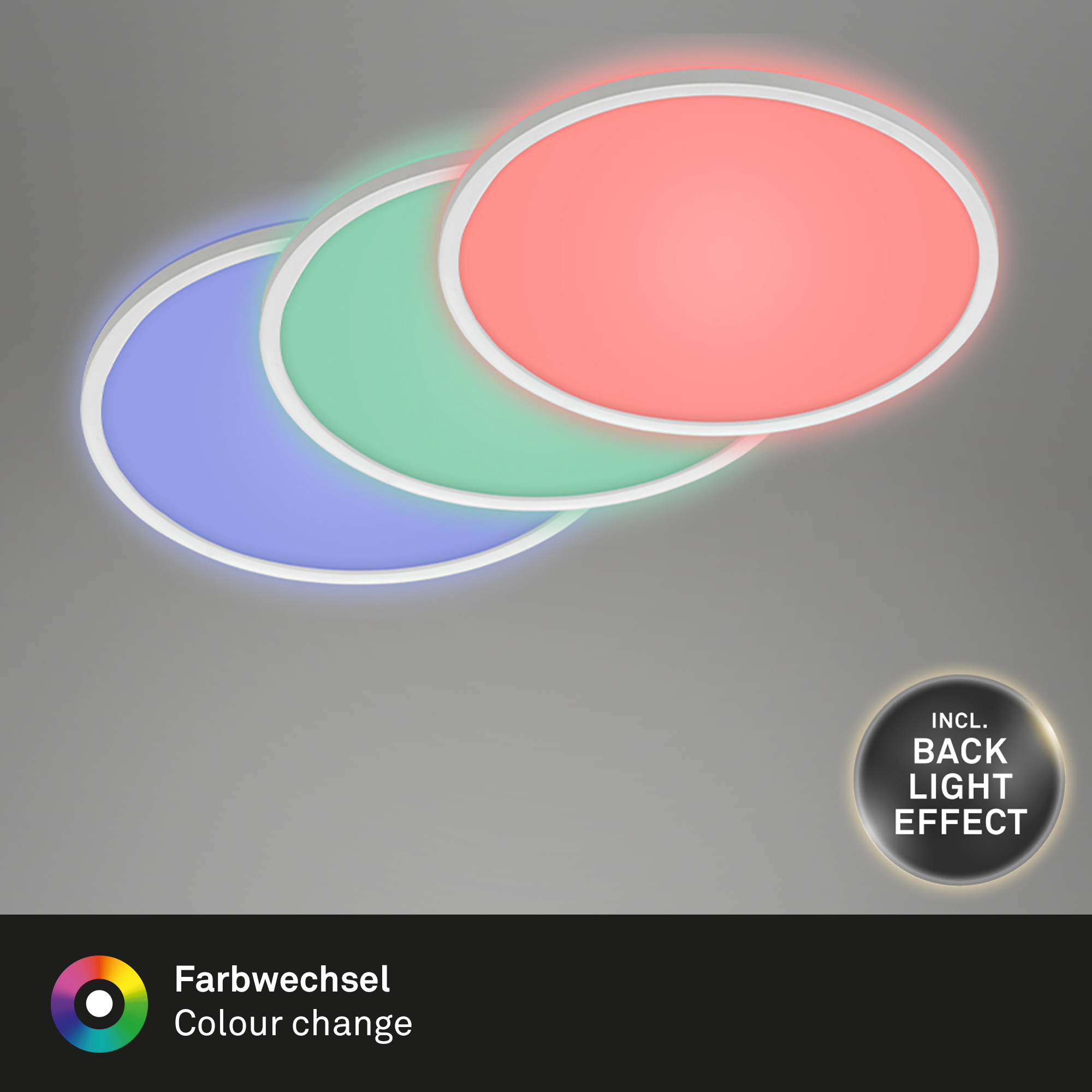 SLIM LED Panel Weiß RGB