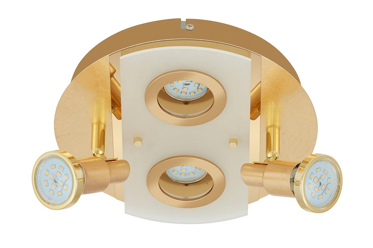LED Spot Deckenleuchte, Ø 25 cm , 20 W, Gold