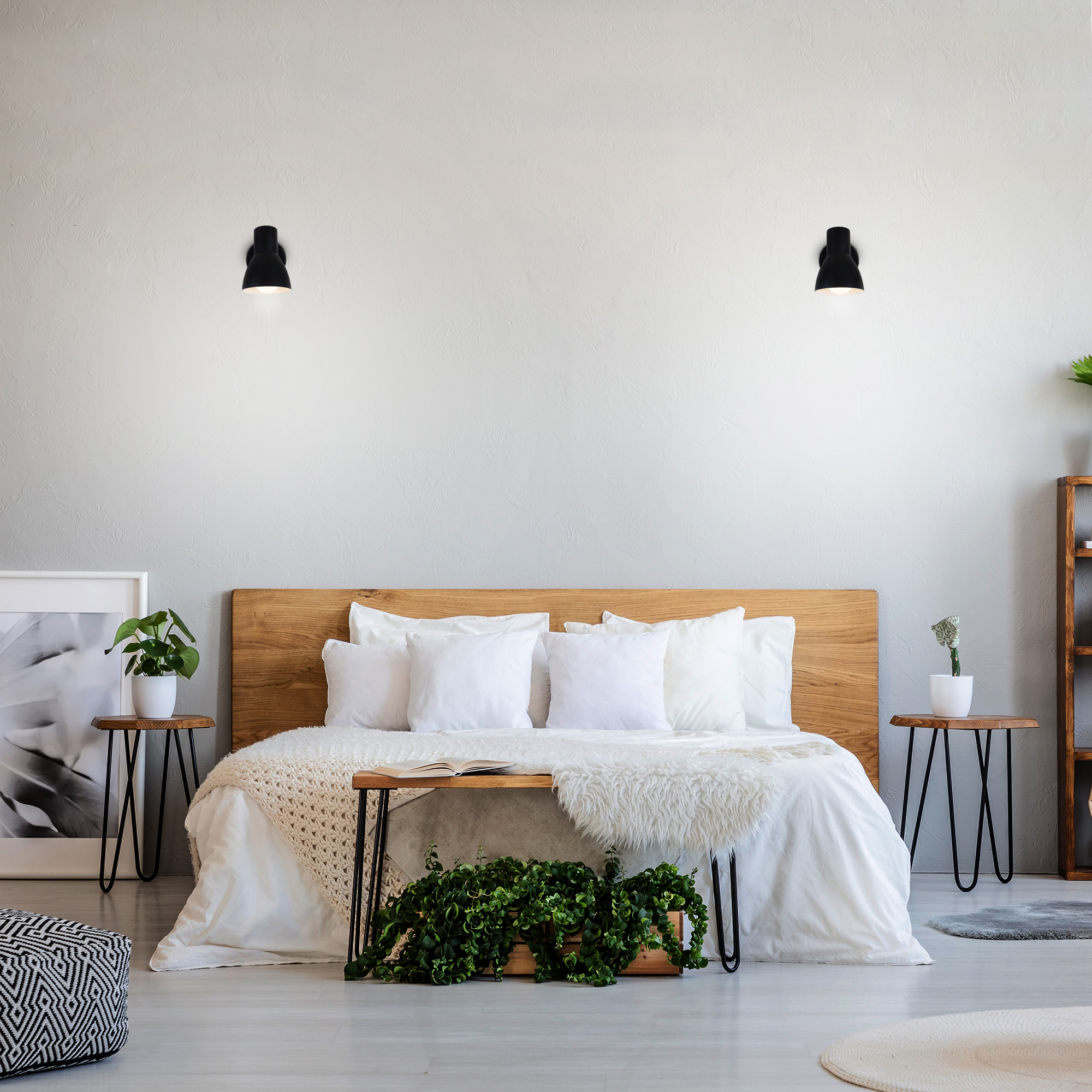 Spot Wand- und Deckenleuchte Schwarz