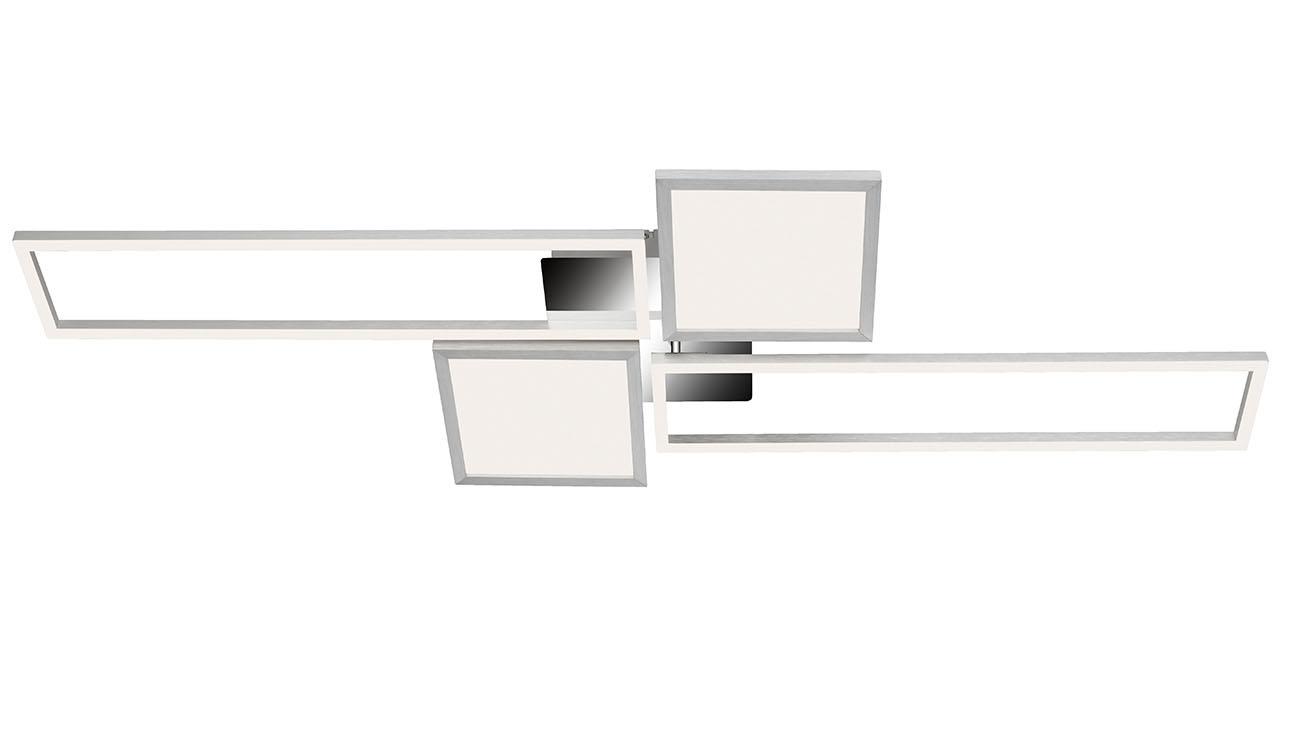 CCT LED Deckenleuchte, 120 cm,50 W, Alu-Chrom