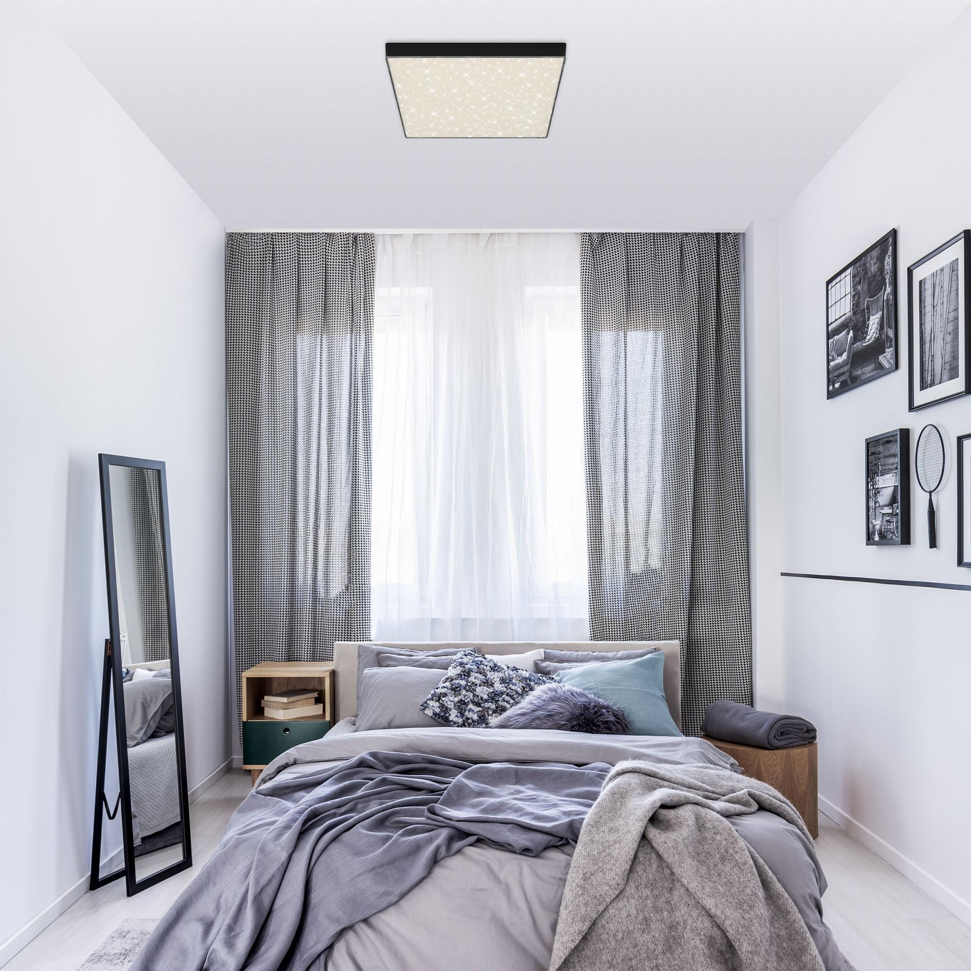 STERNENHIMMEL LED Deckenleuchte, 28,7 cm, 21 W, Schwarz