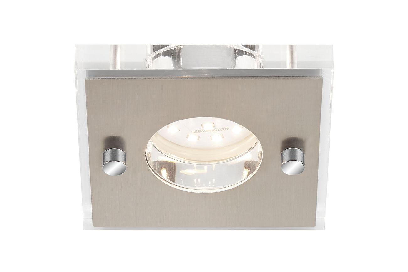 LED Einbauleuchte, 8,5 cm, 5 W, Matt-Nickel