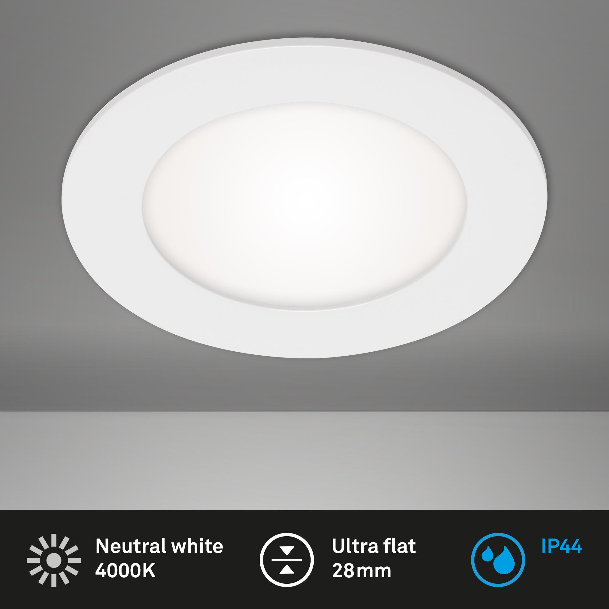 LED Einbauleuchte, Ø 12 cm, 7 W, Weiß