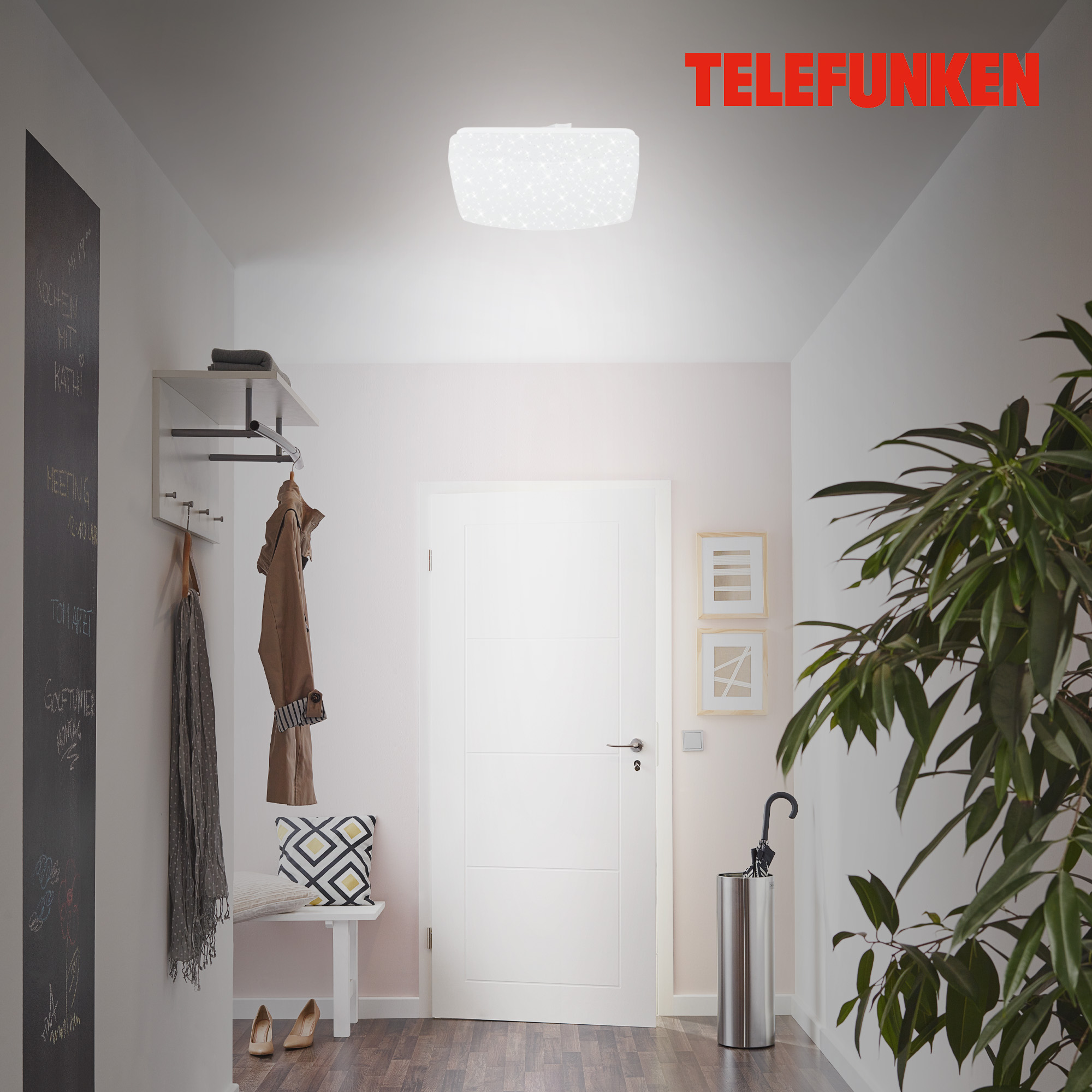 TELEFUNKEN Sensor LED Deckenleuchte Weiß