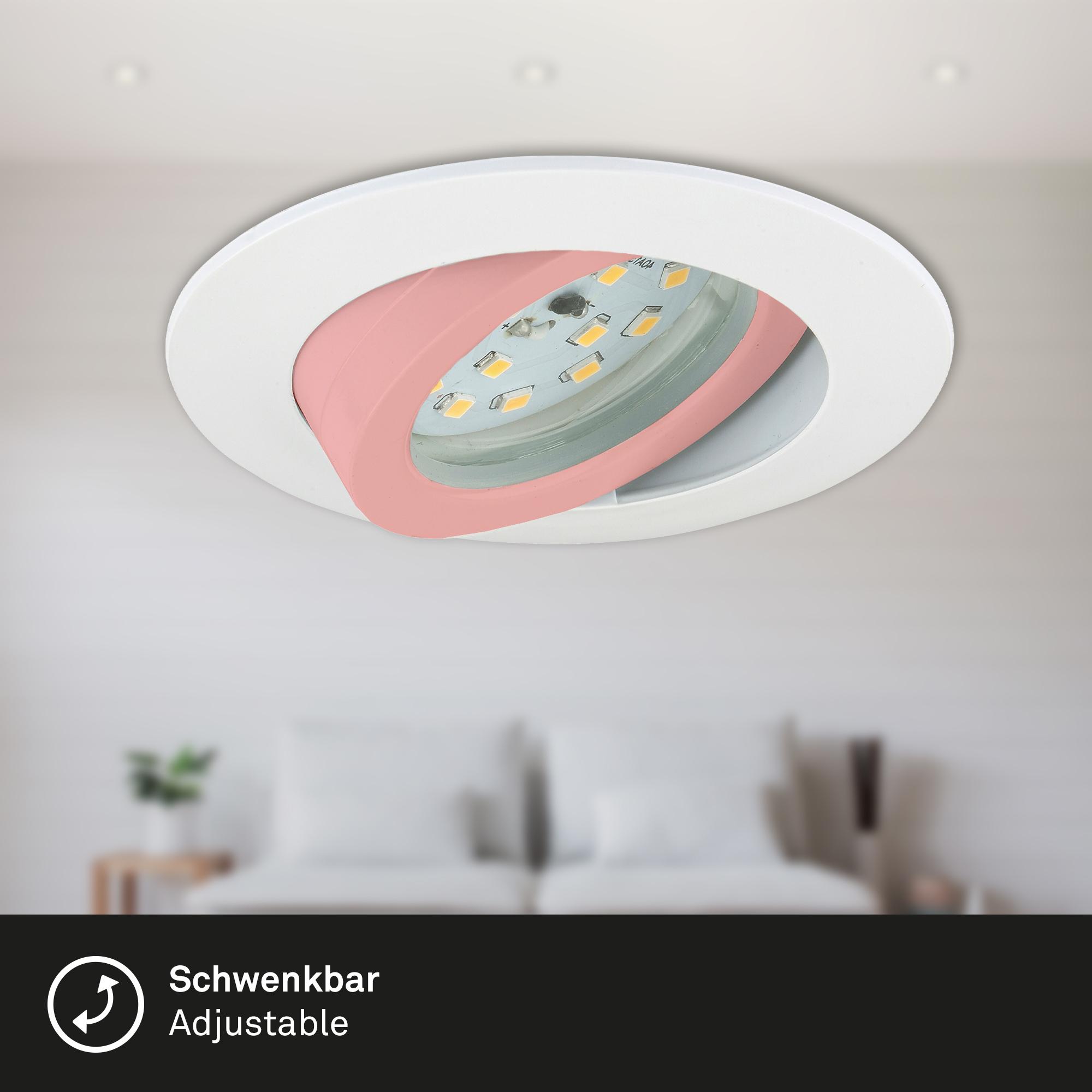 LED Einbauleuchte, Ø 8,2 cm, 6,5 W, Weiß