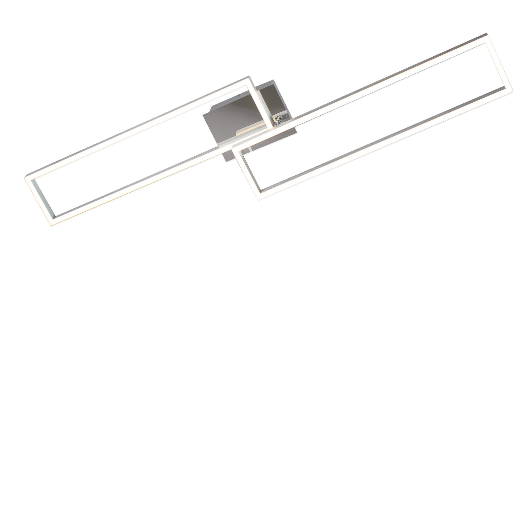 Smart LED Deckenleuchte, 110 cm, 4400 LM, 40 W, Alu