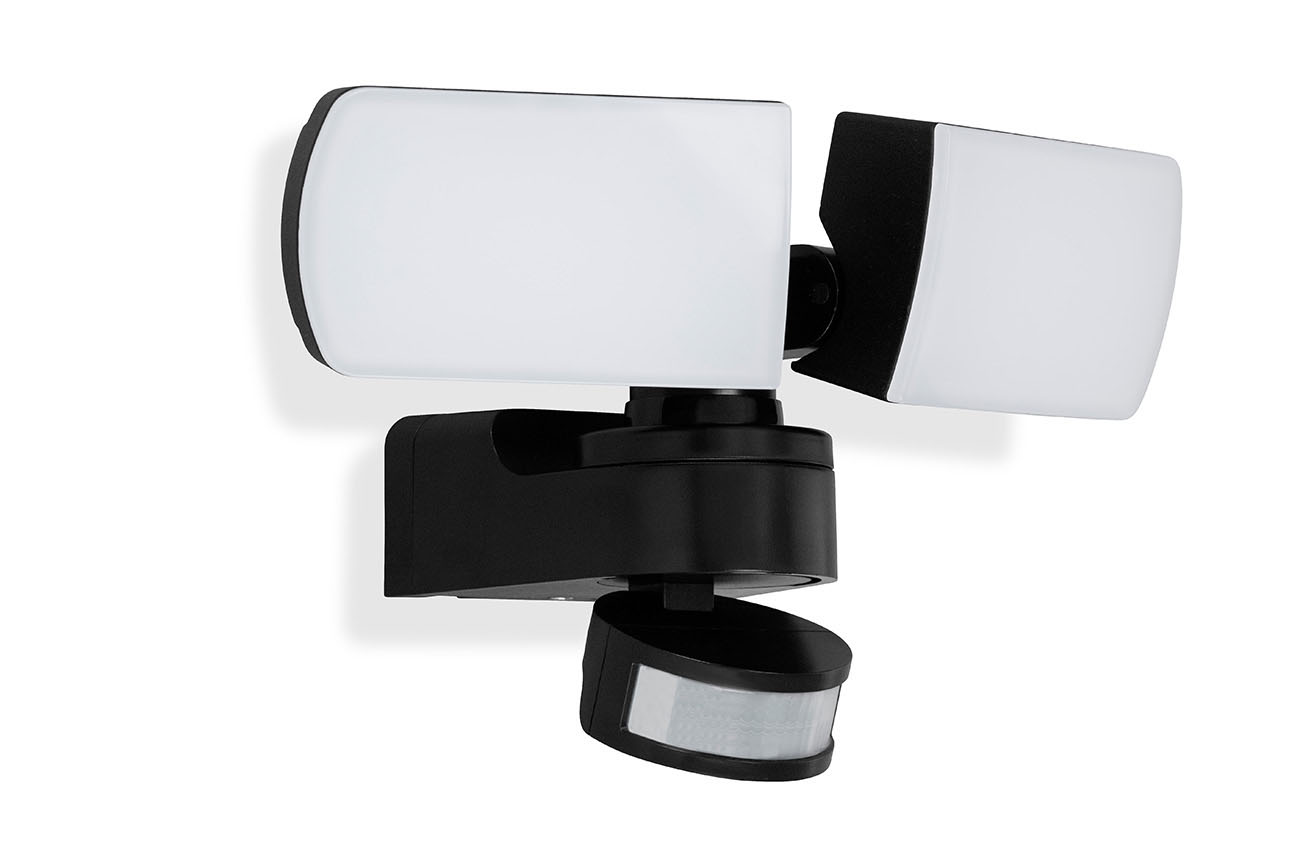 TELEFUNKEN LED Sensor Aussenleuchte, 25 cm cm, 30 W, Schwarz